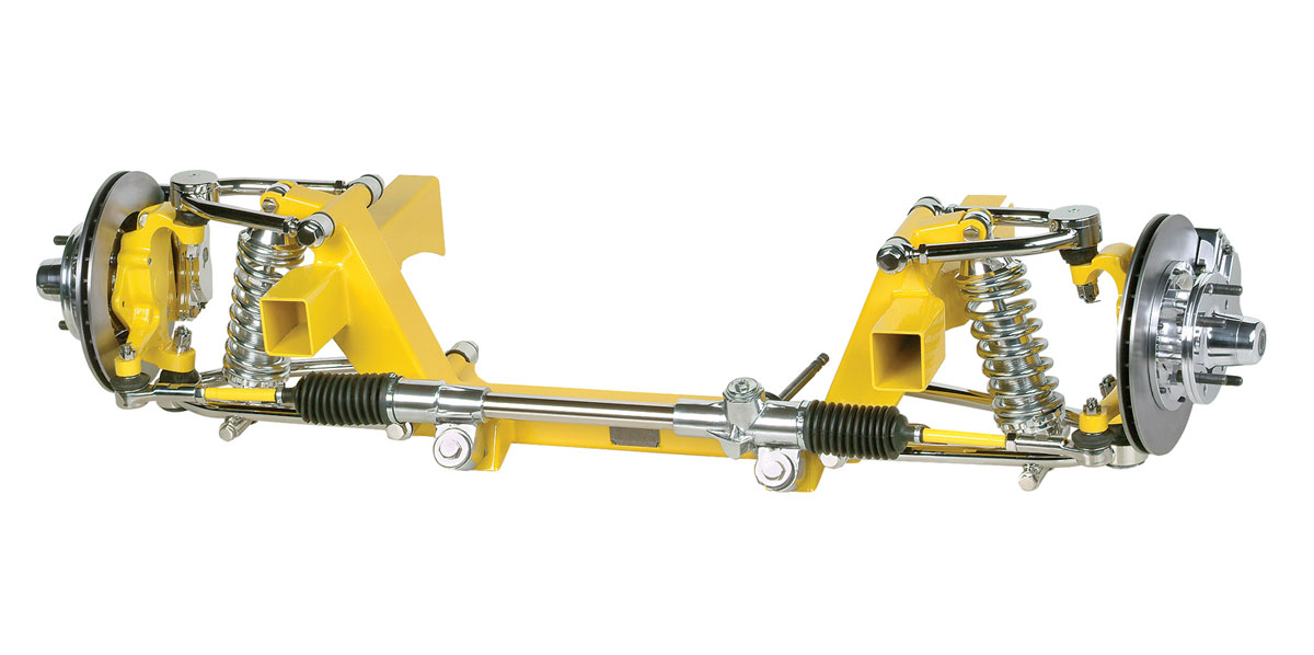 The Heidts Superride II front suspension is based on the Mustang II design but is for more performance-focused 1965–70 Mustang builds (Heidts Suspension Systems)