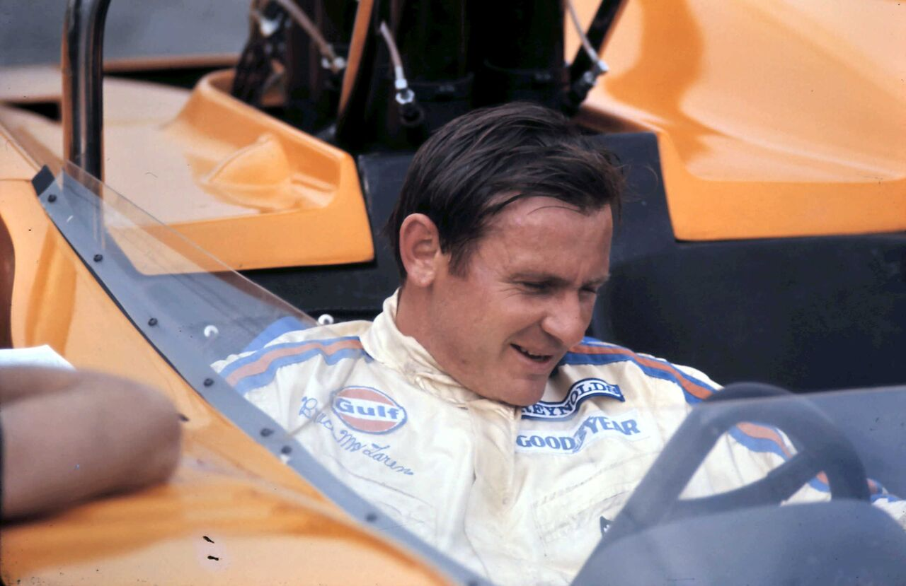 Bruce McLaren won two driver's and five team Cam-Am championships with his orange cars.