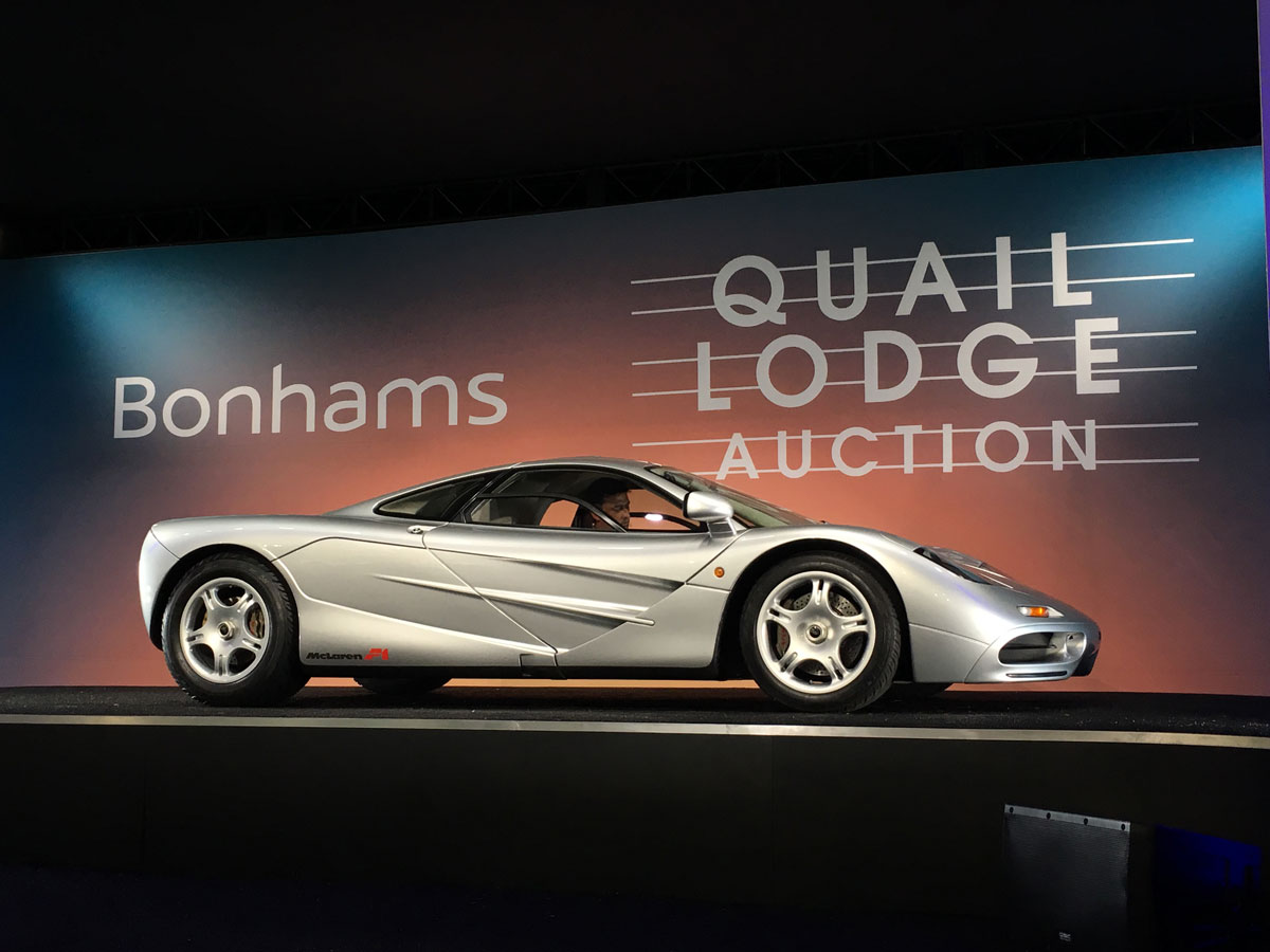 Bonhams just sold the first McLaren F1 imported into the U.S. for  alt=
