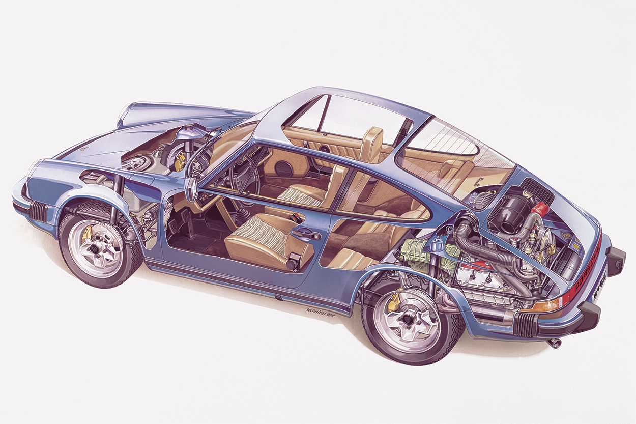 1979 Porsche 911 SC cutaway