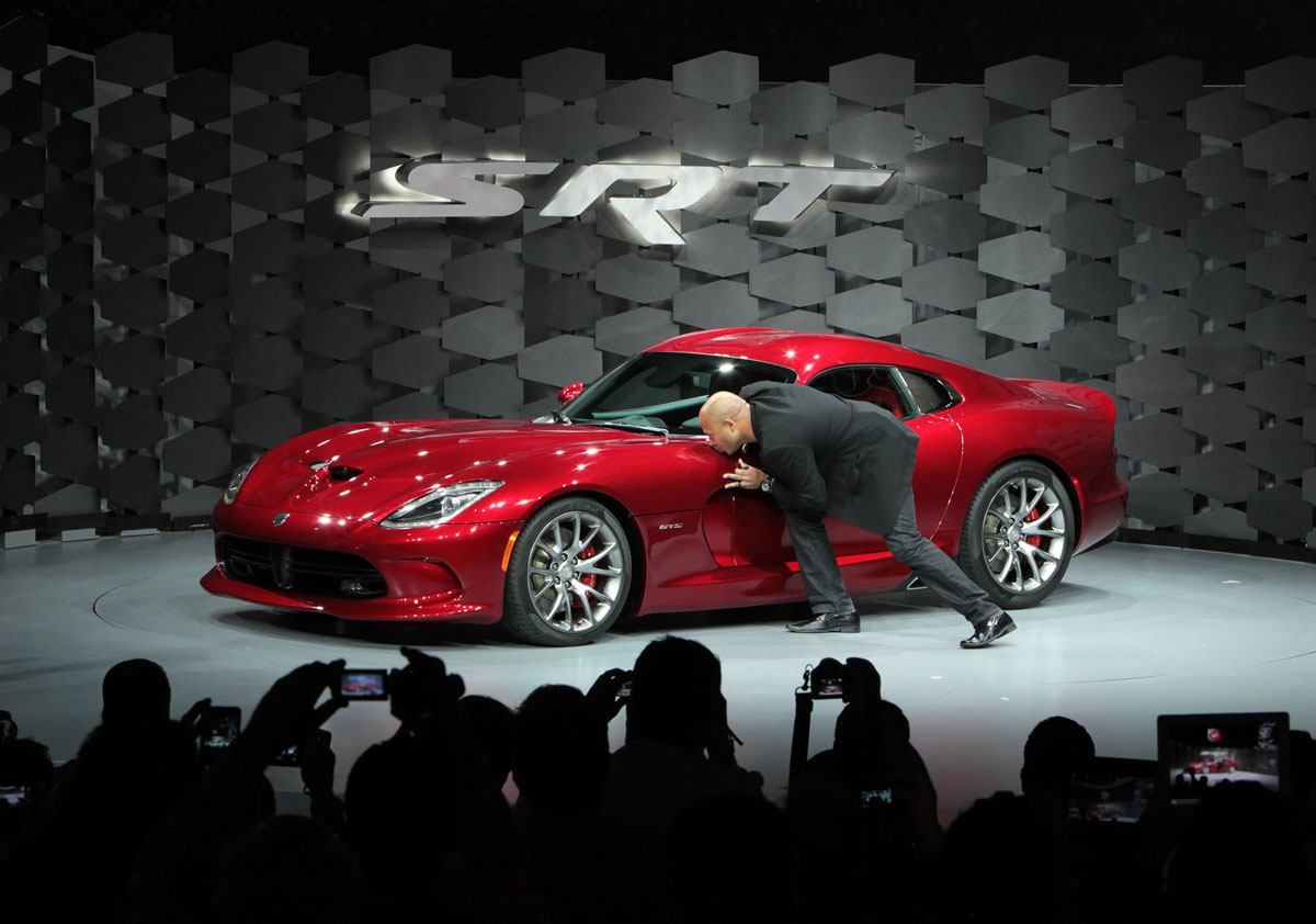 Ralph Gilles at the 2013 SRT Viper Reveal during the New York Auto show