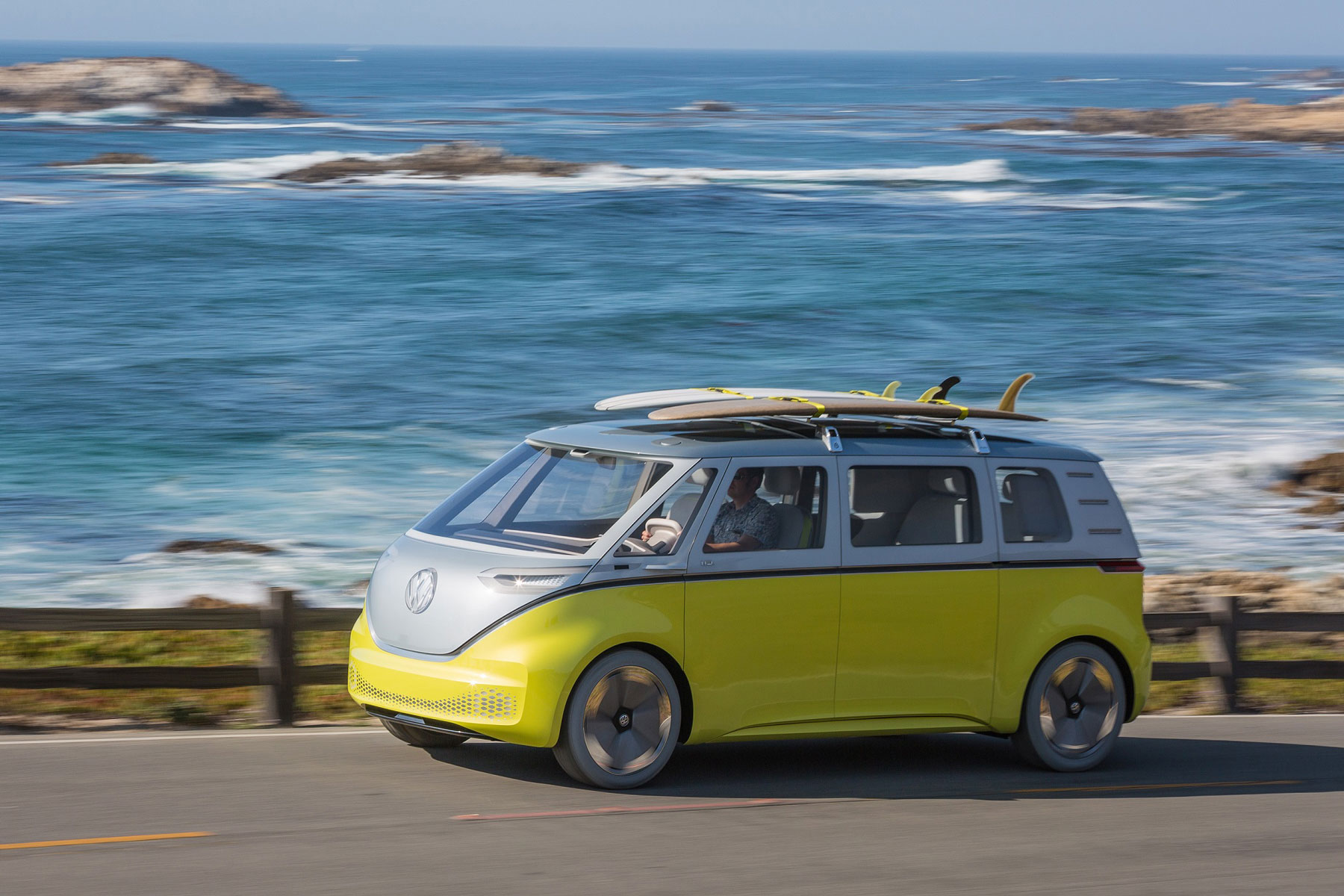 The all-electric Volkswagen I.D. Buzz concept