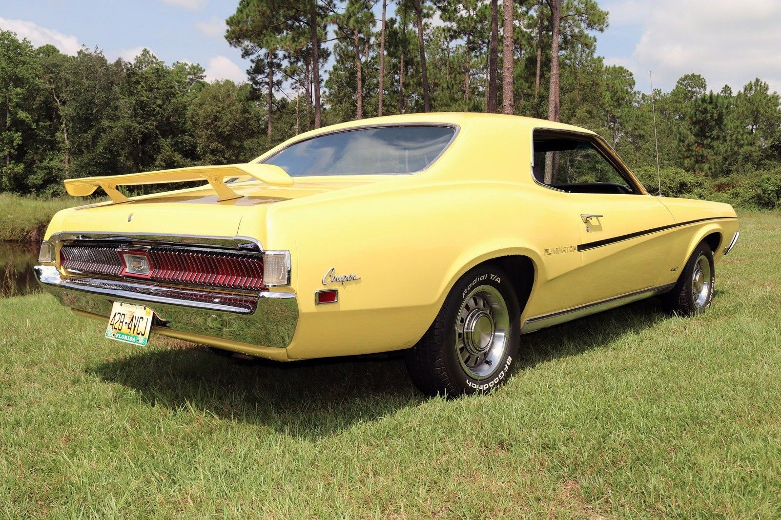 1969 Mercury Cougar Eliminator rear 3/4