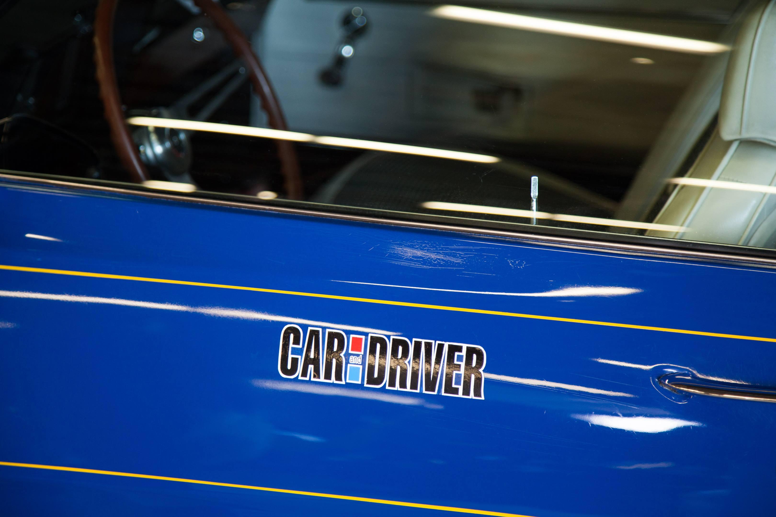 blue maxi 1969 camaro car and driver door label