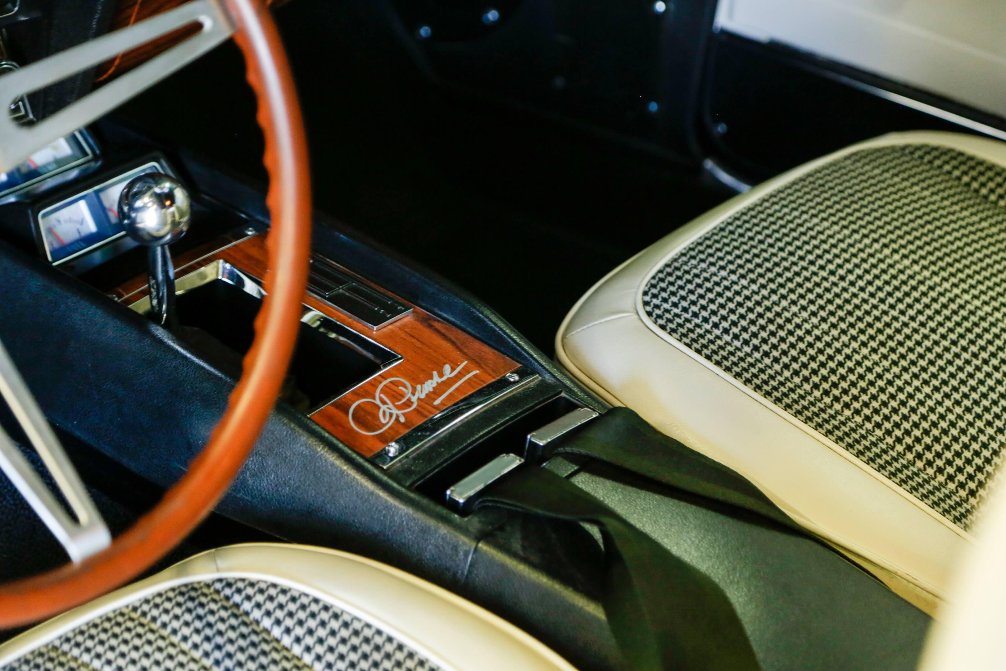 1969 chevy camaro ss blue maxi roger penske interior