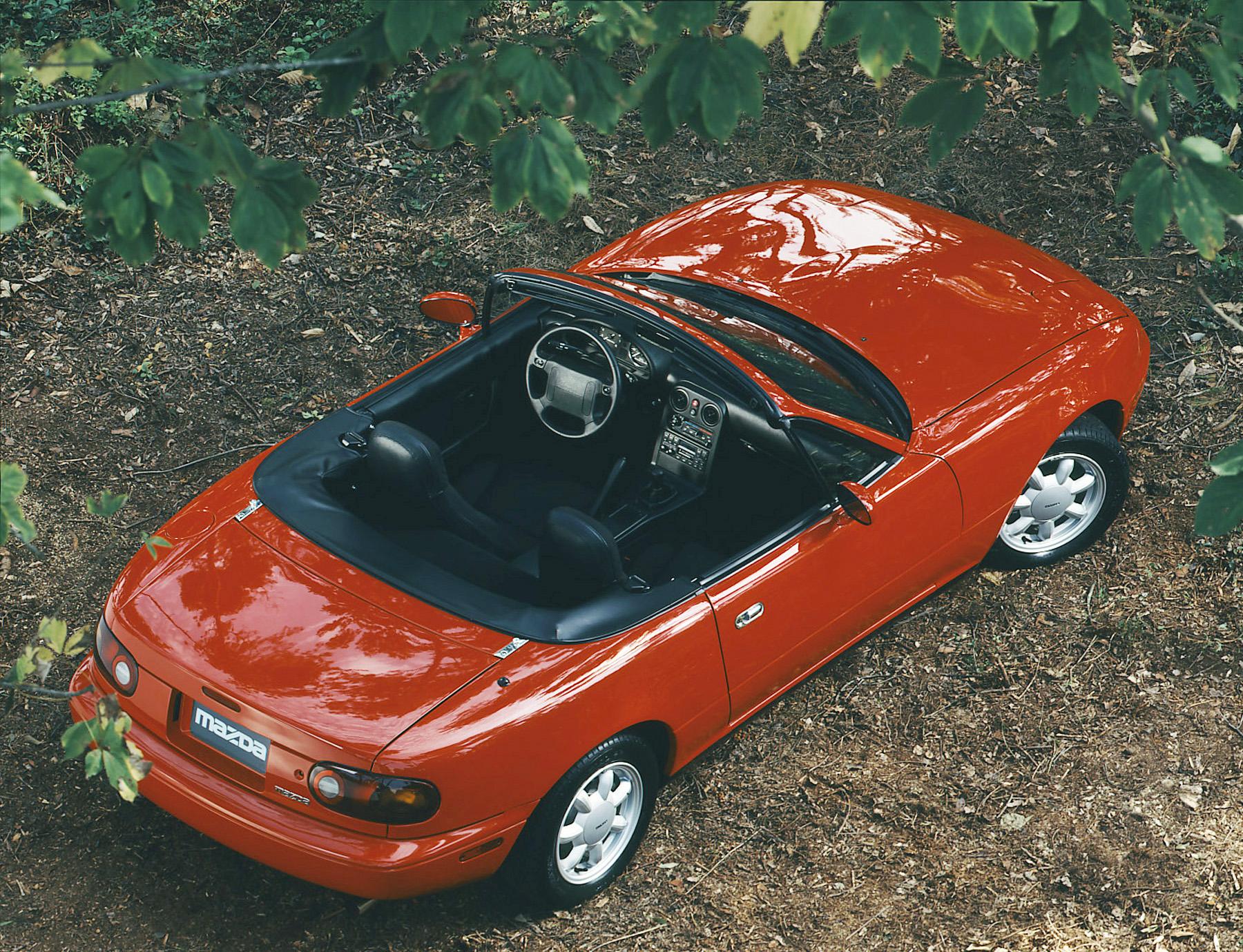 1990 mazda mx5 miata interior red top down