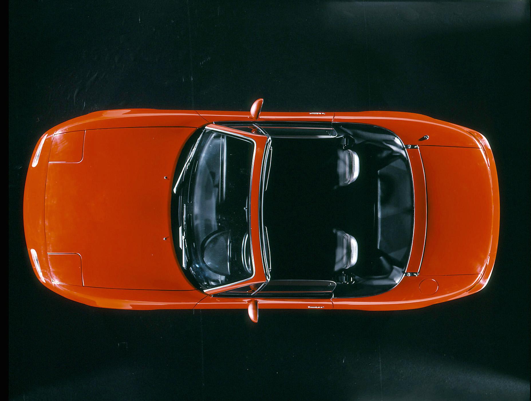 1990 mazda miata mx5 red overhead view