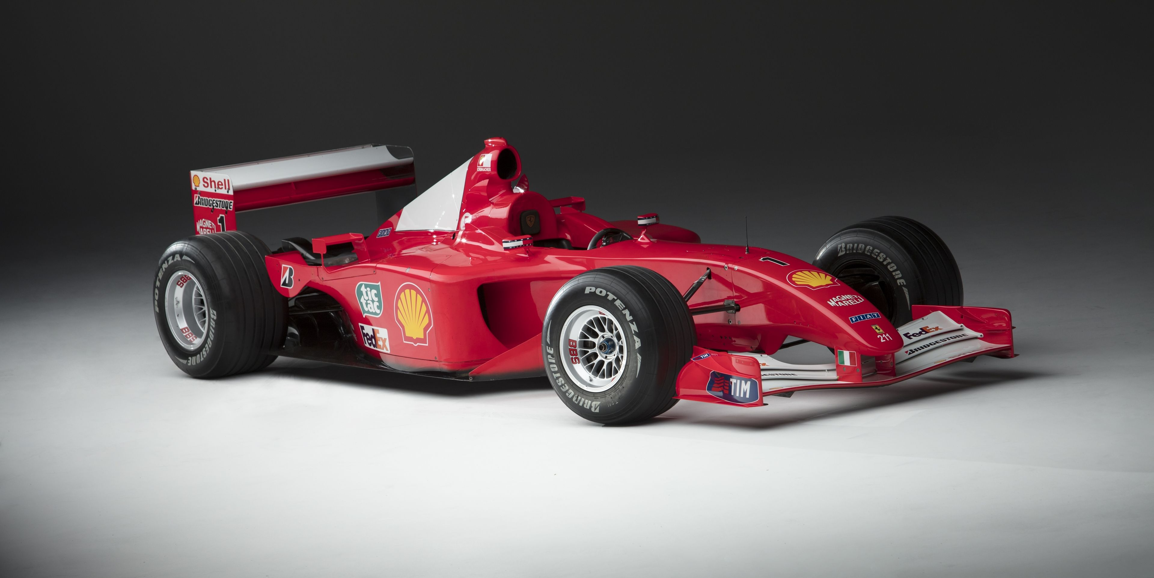 Schumacher's Ferrari F1 race car could sell for more than $4 million thumbnail