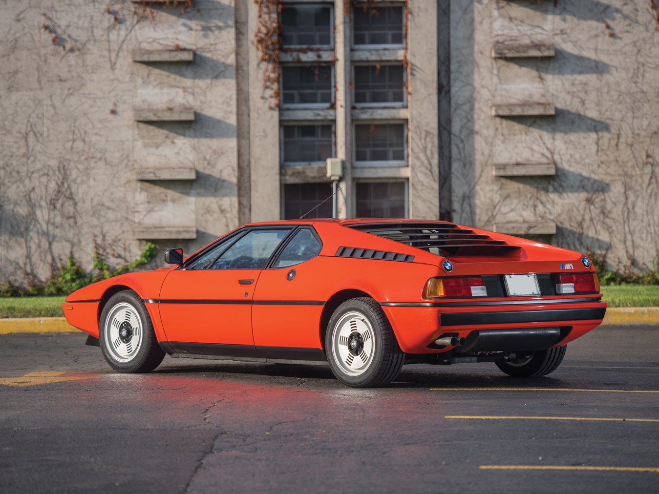 1981 BMW M1 rear three quarter orange