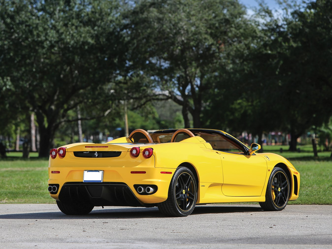 2007 Ferrari F430 Spider yellow rear