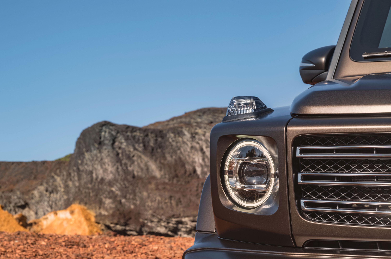 2019 Mercedes-Benz G-Class headlight detail