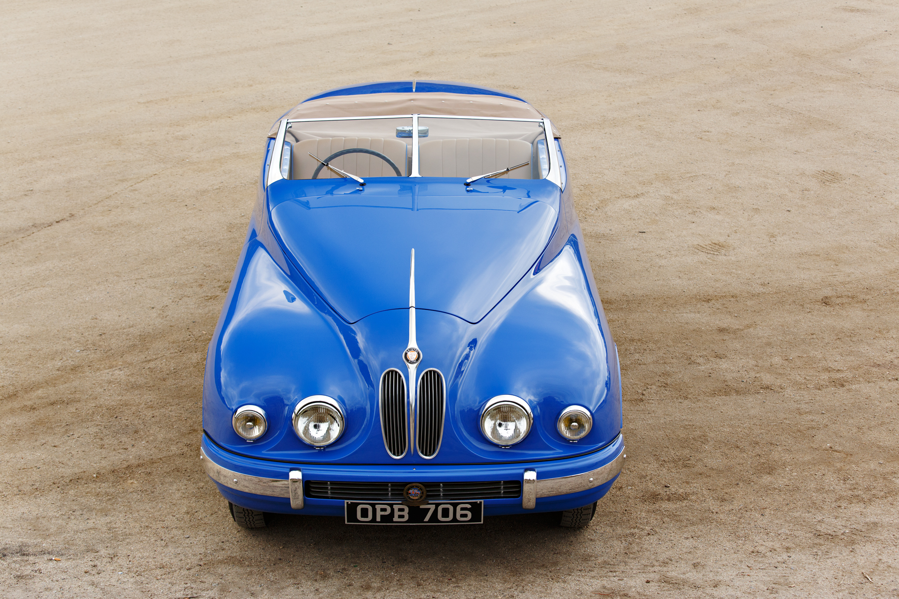 1949 Bristol 402 Cabriolet front overhead
