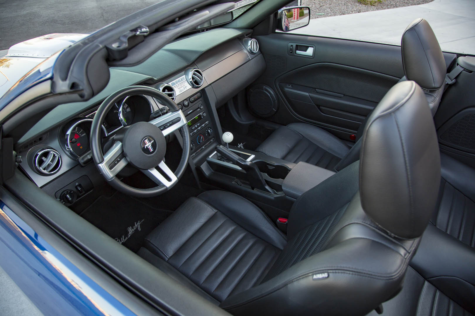 2007 Shelby GT convertible prototype interior