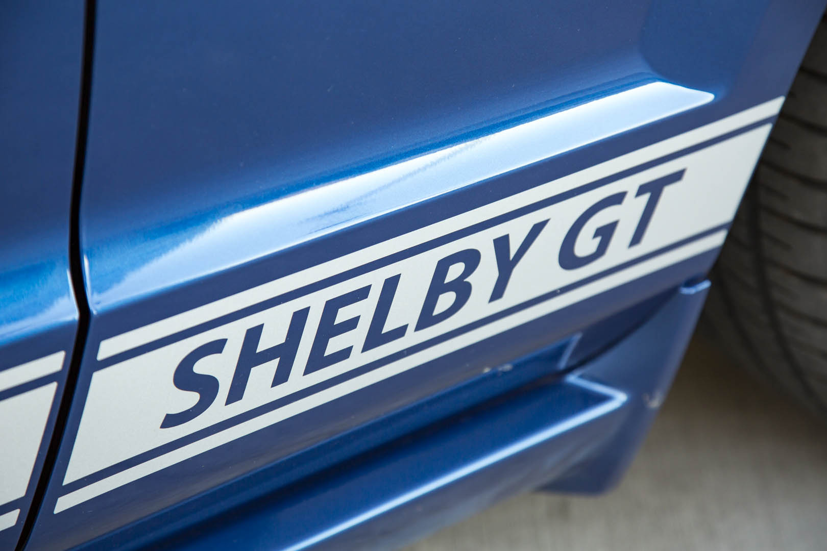 2007 Shelby GT convertible prototype paint detail