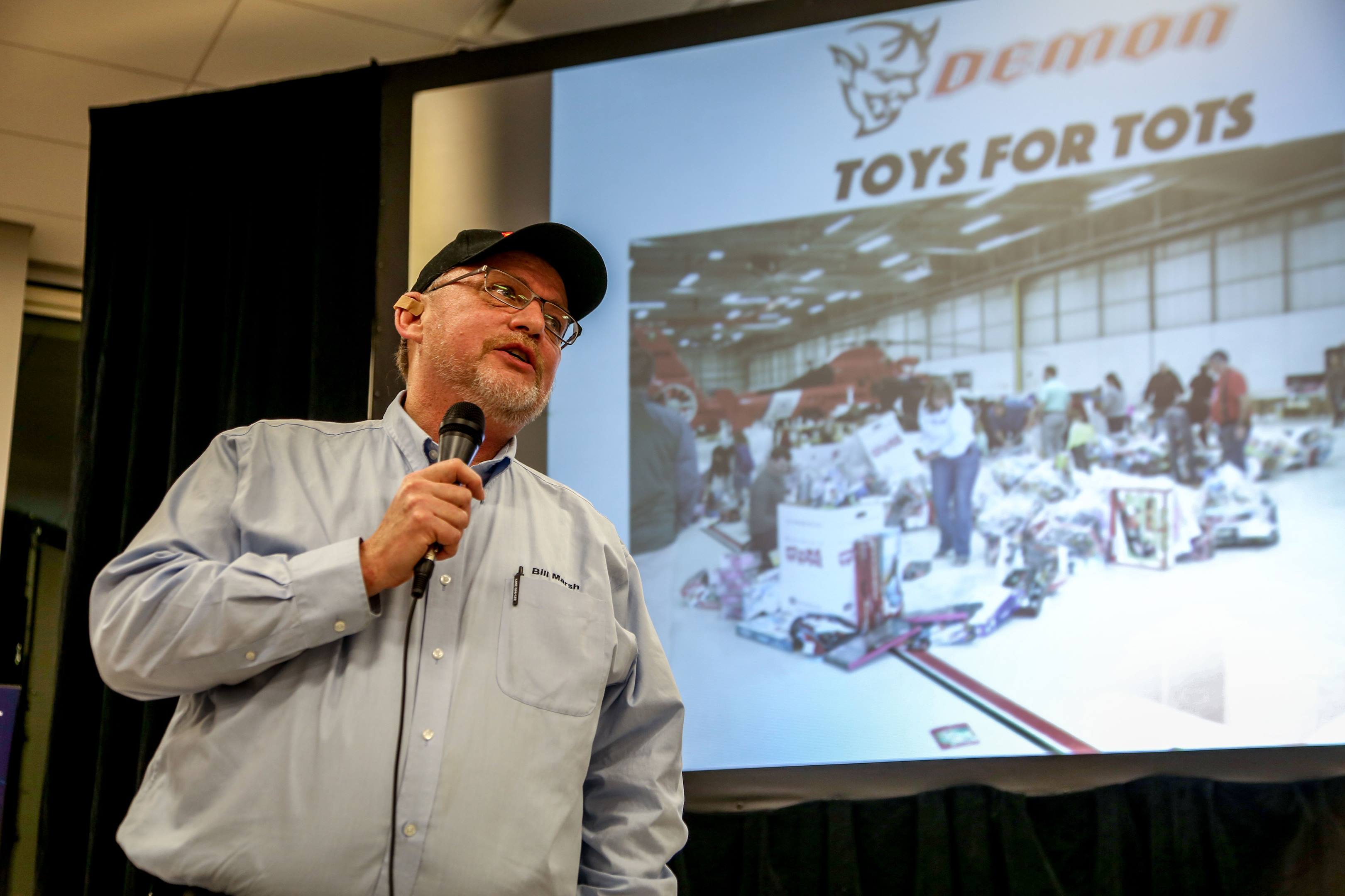 Mike Kent, marketing director for Marsh Auto and spokesperson for Toys for Tots
