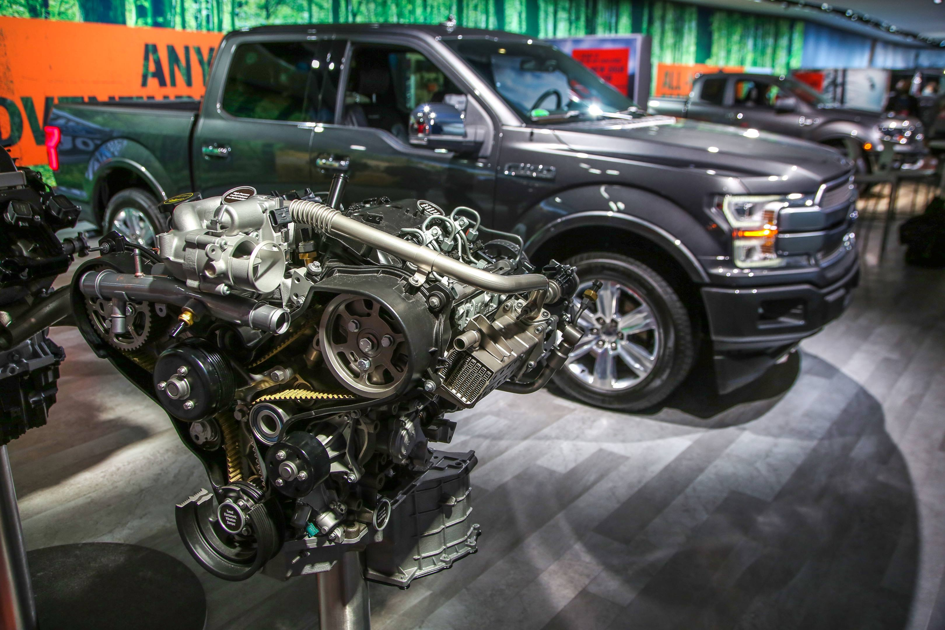 2018 Ford F-150 Diesel at the NAIAS