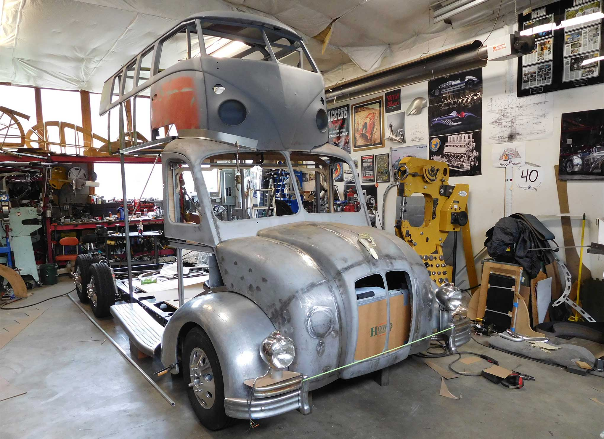 Randy Grubb's Magic Bus before welding