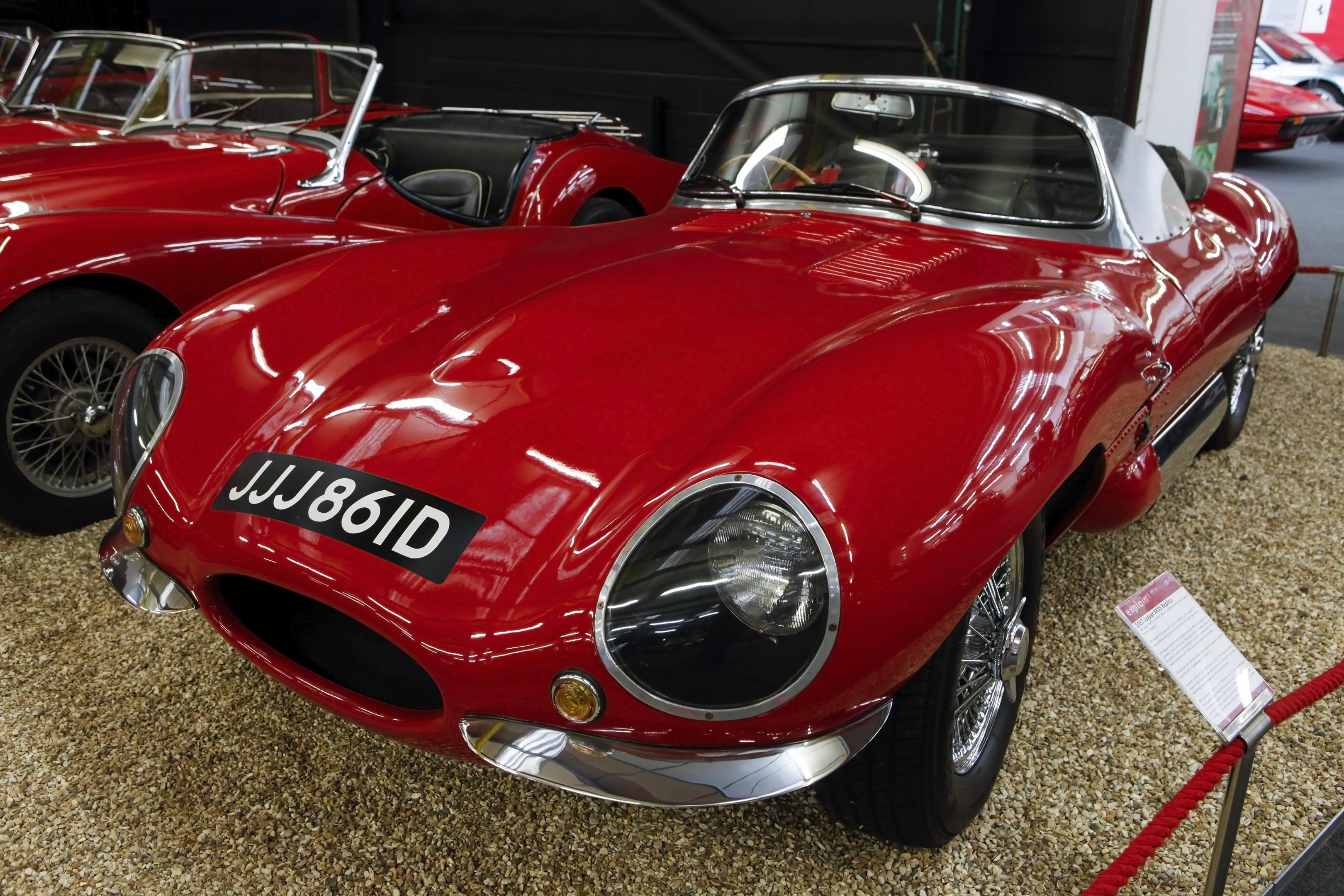 haynes museum 1957 jaguar xkss replica red