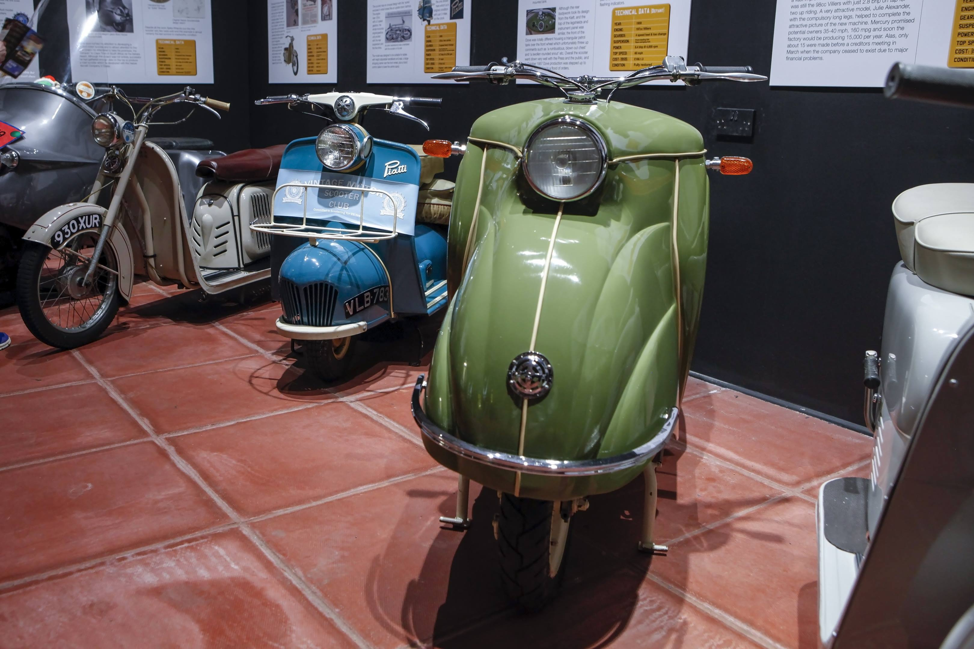 haynes museum scooter green blue