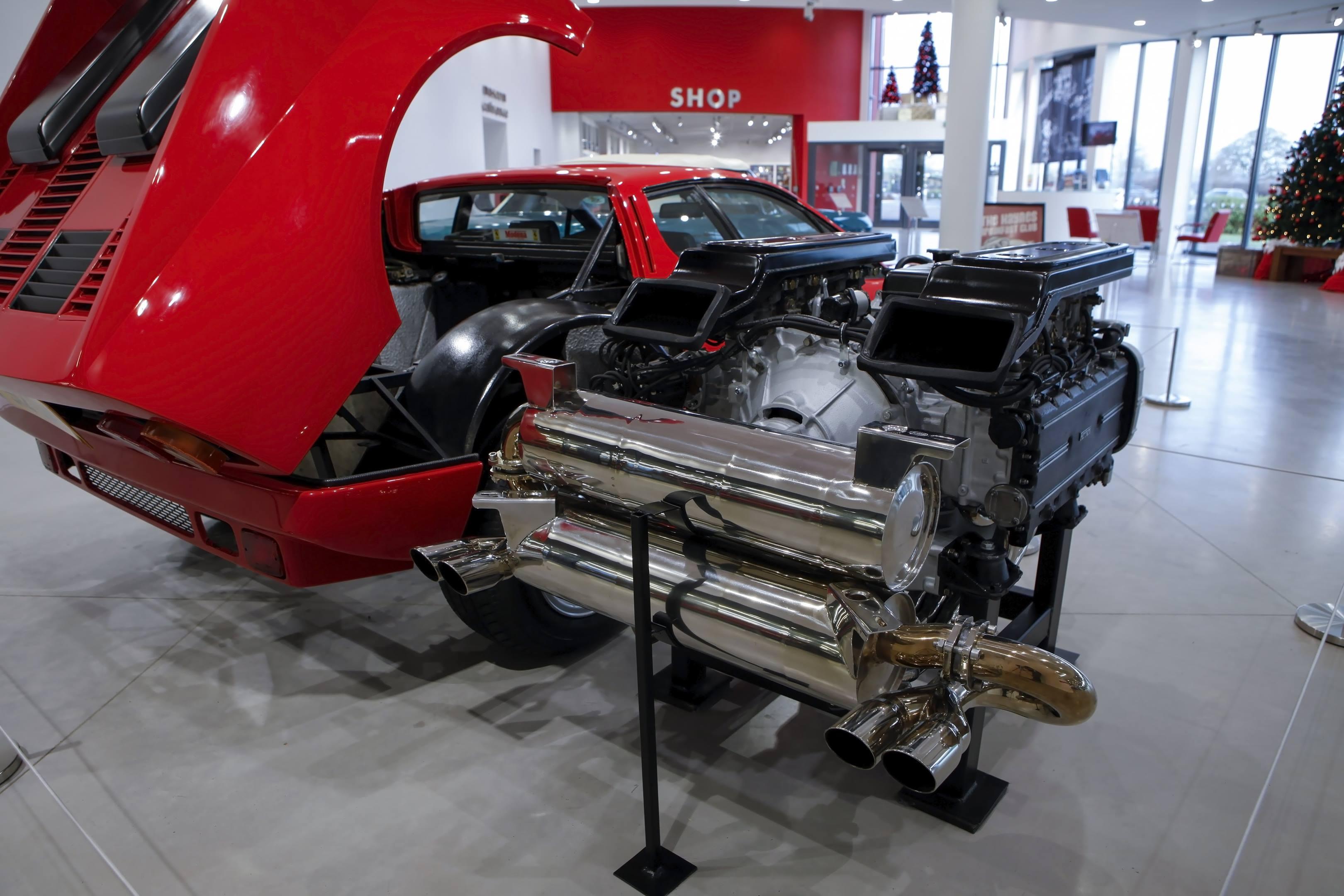 pulled Ferrari engine 512 bb