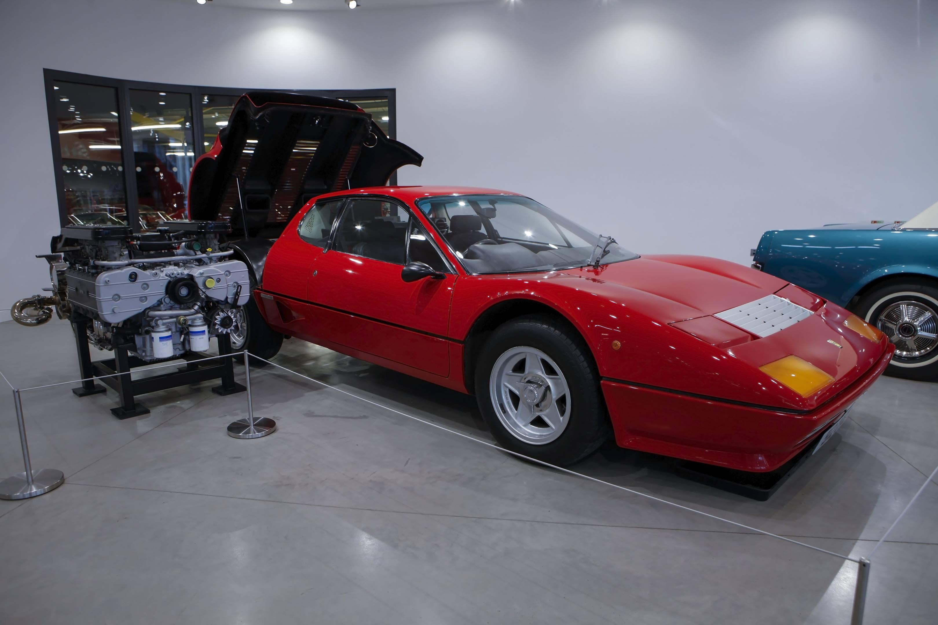 Haynes International Motor Museum Ferrari 12 bb engine red