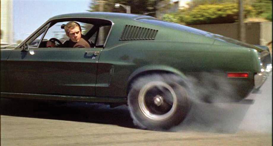 Bullitt Mustang burnout