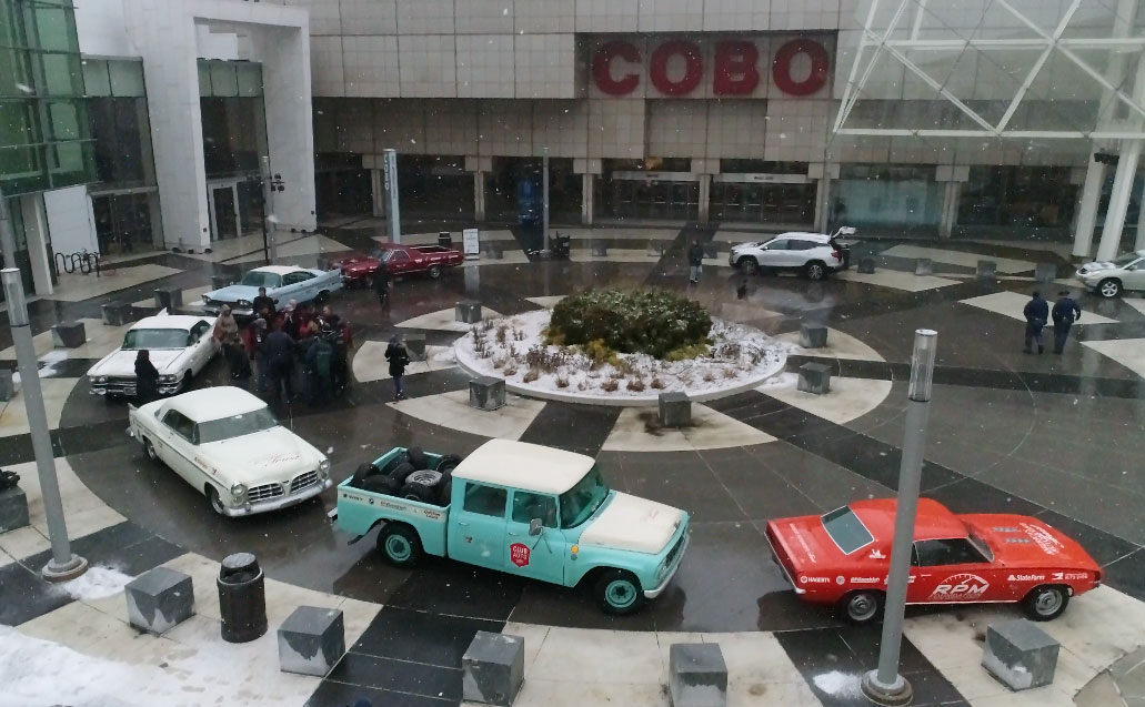 Drive Home Tour lined up at Detroit's Cobo Hall