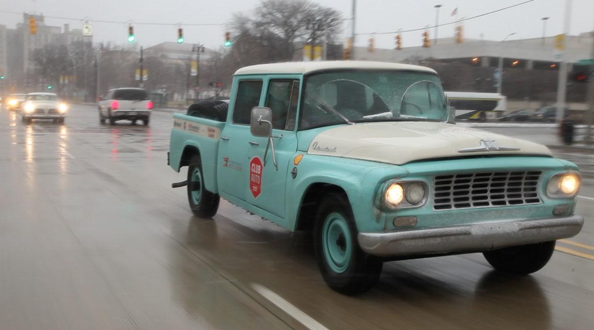 1962 International Travelette pick up front RH corner Woodward Ave