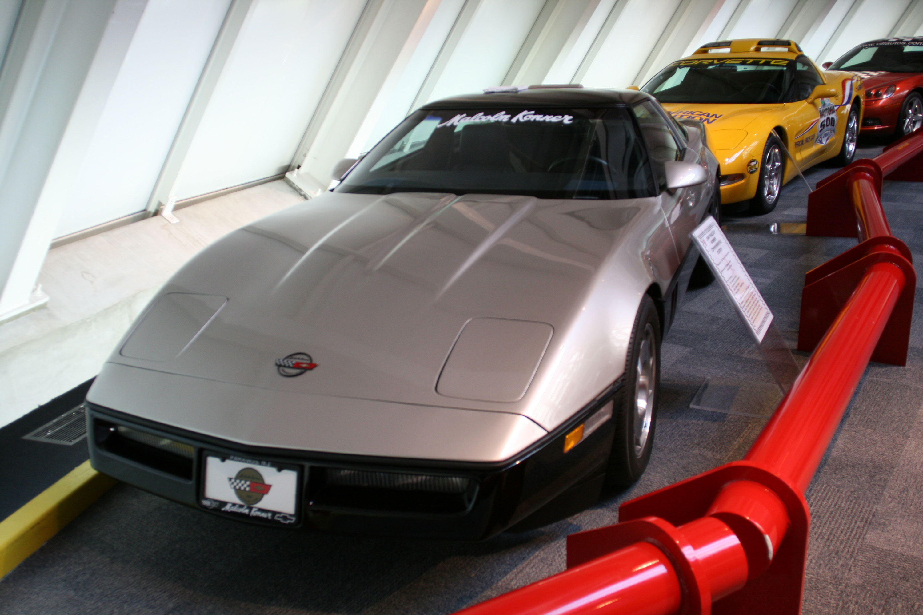 A 1986 Malcolm Konner Edition Corvette at the National Corvette Museum in Bowling Green, Kentucky.