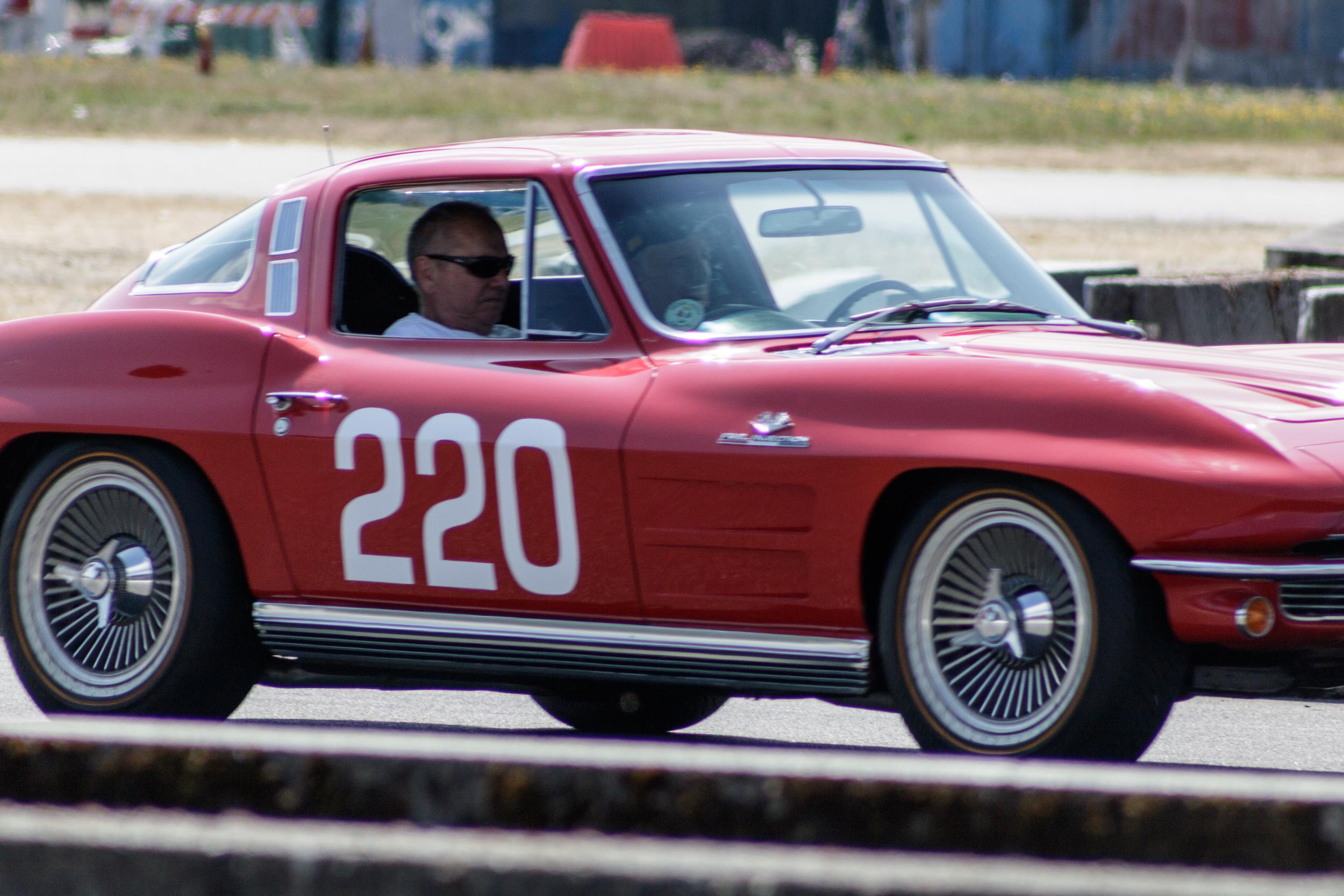 driving the 1964 Chevrolet Corvette
