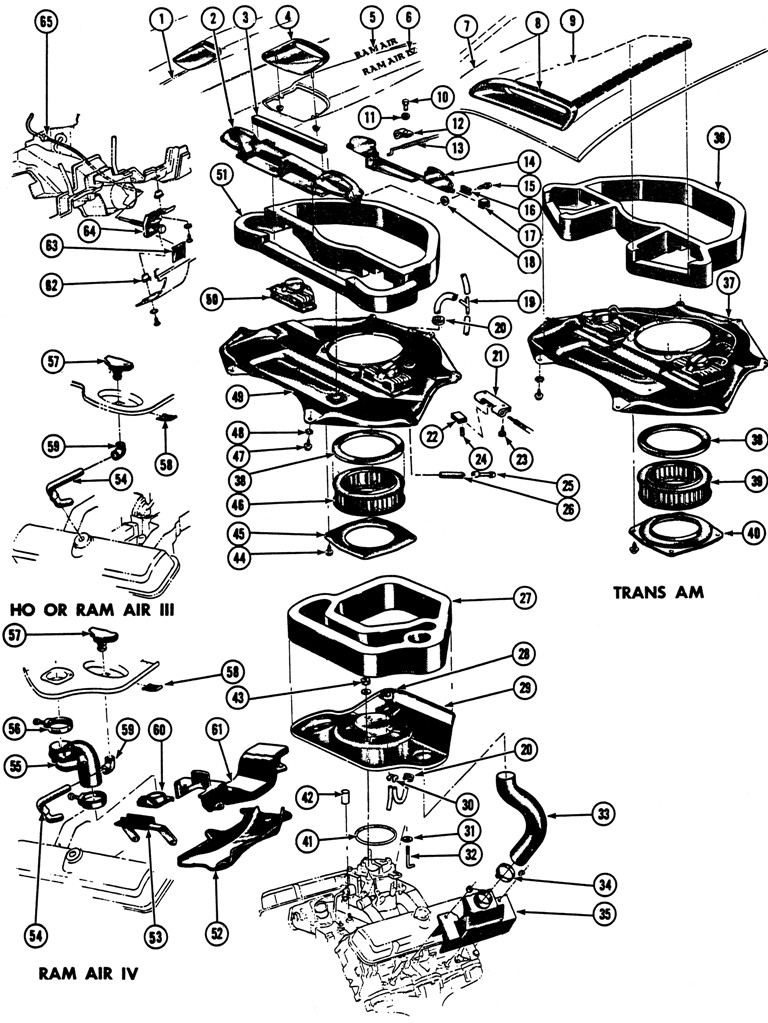 Pontiac ram air parts diagram