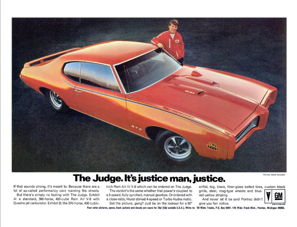 1969 Pontiac GTO Judge Advertisement