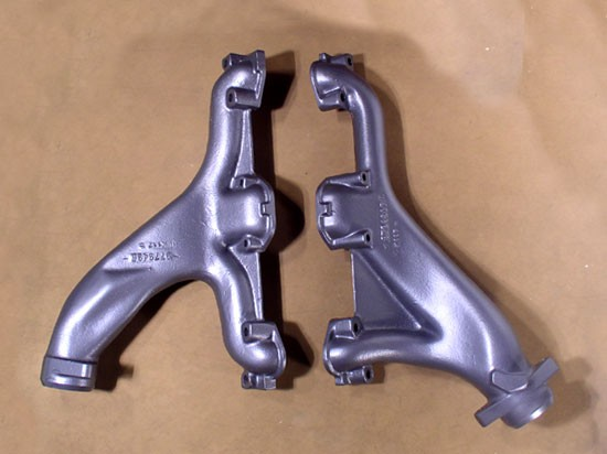 Pontiac long branch exhaust manifolds