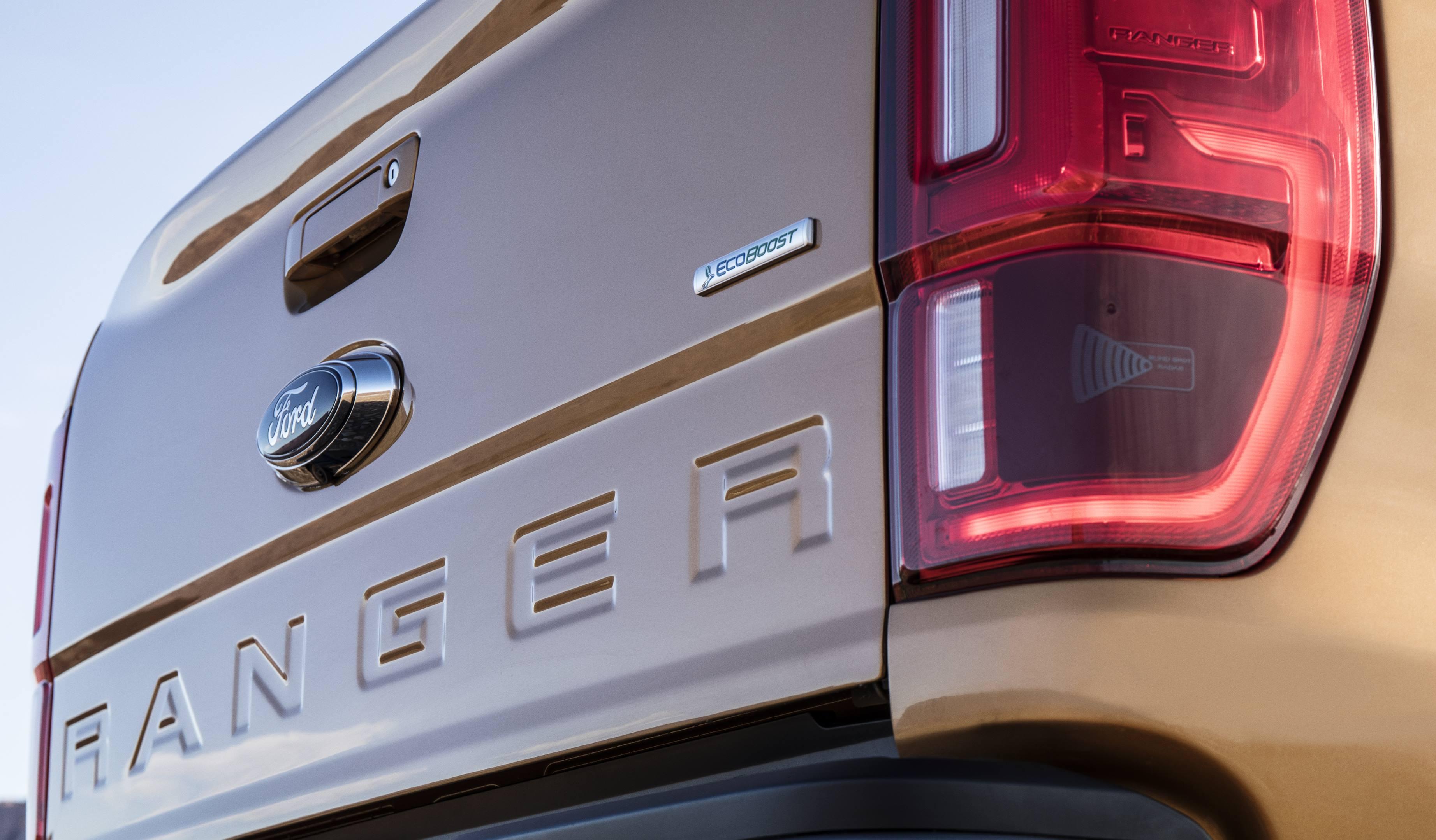 2019 Ford Ranger tailgate detail