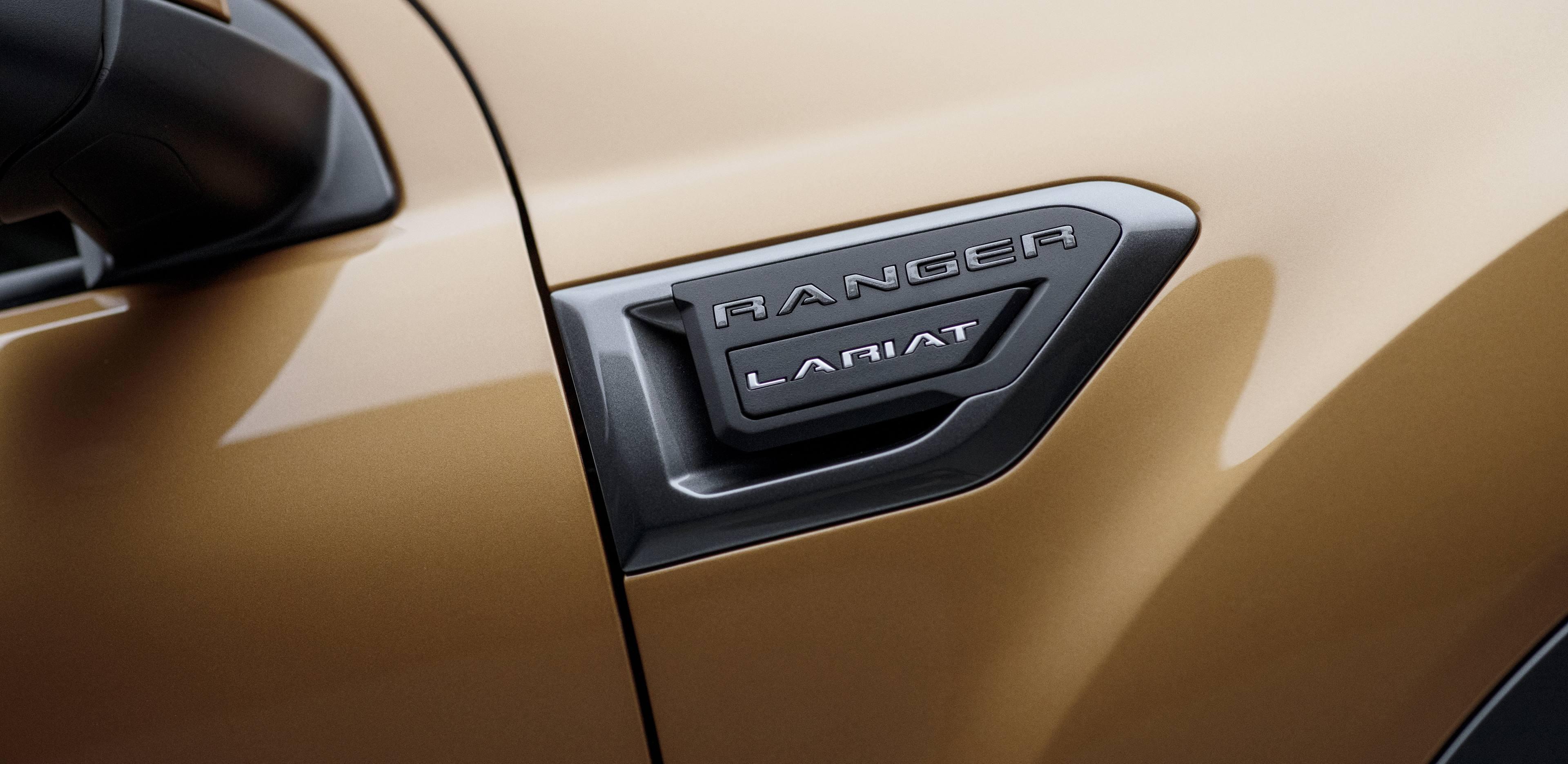 2019 Ford Ranger badge detail