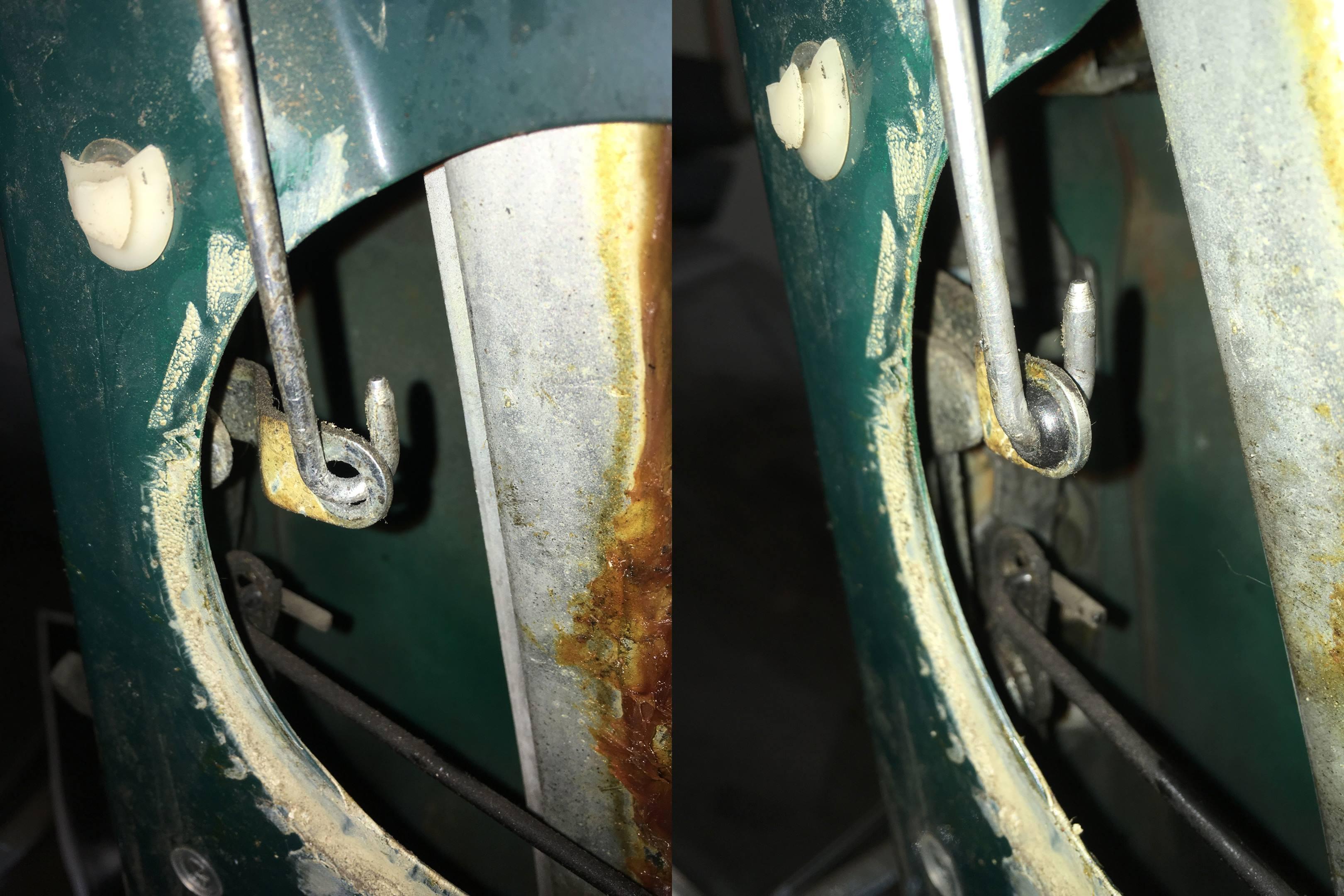 door lock linkage grommet before and after