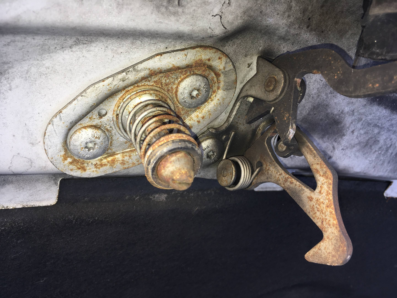 hood striker latch spring