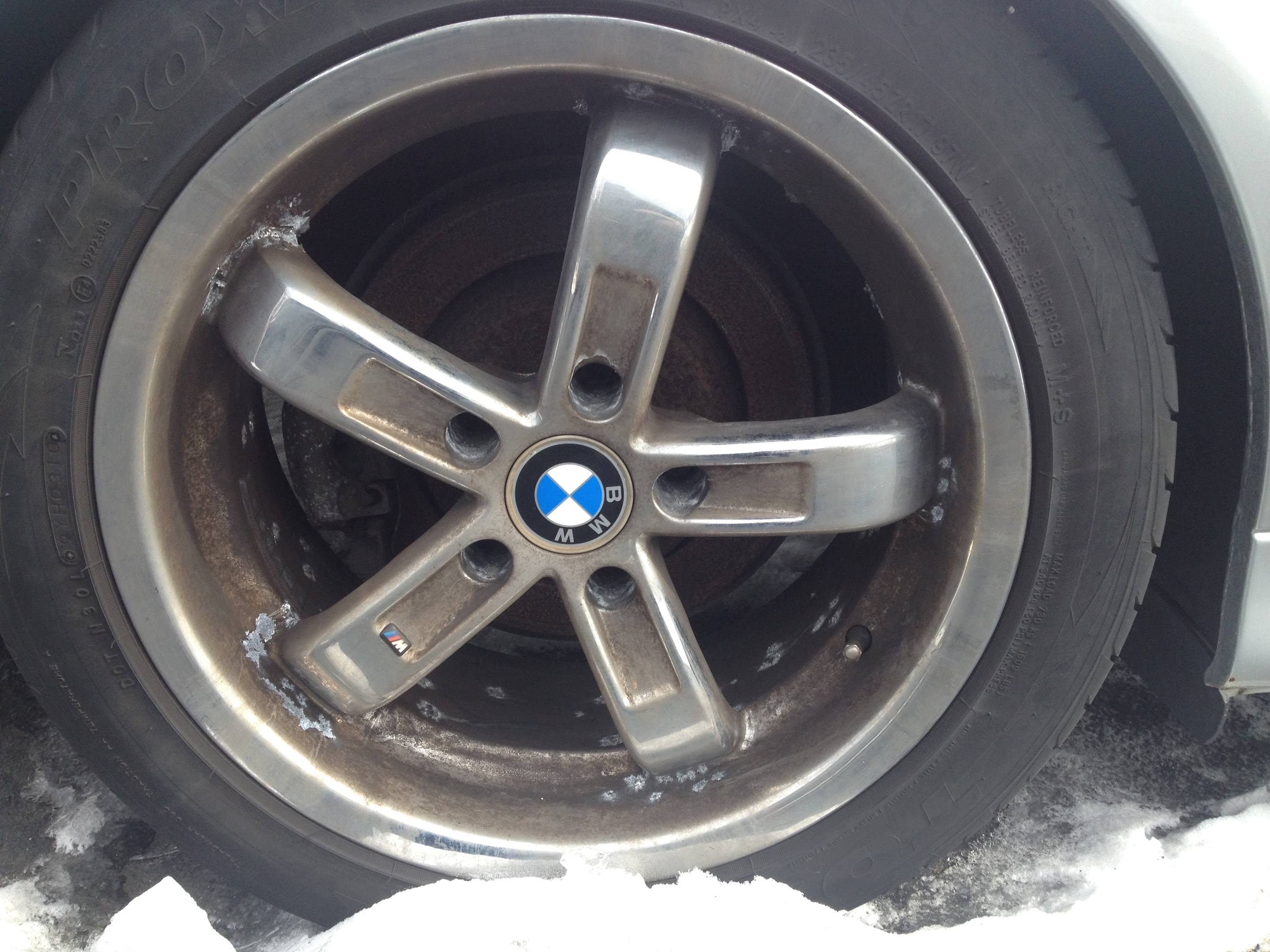 tires on Rob Siegel's 2003 BMW 530i