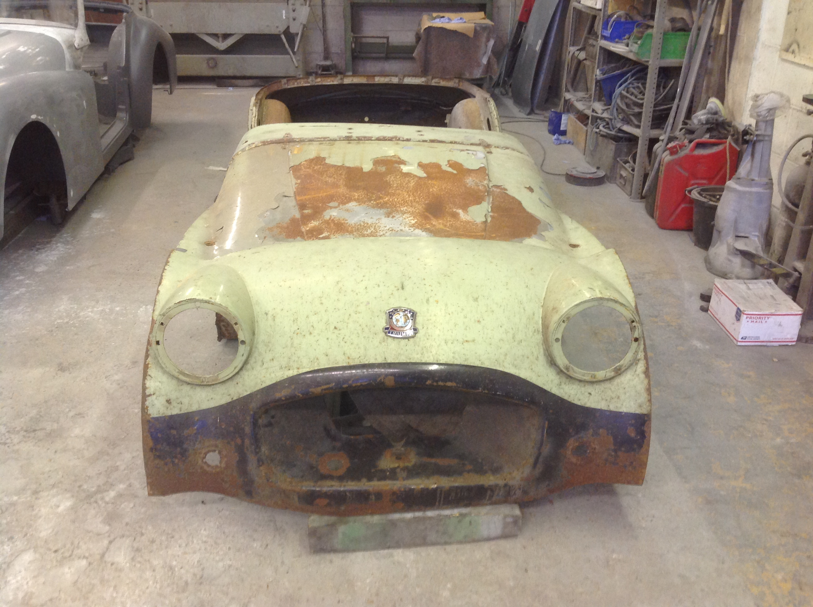 Triumph TR2 before restoration