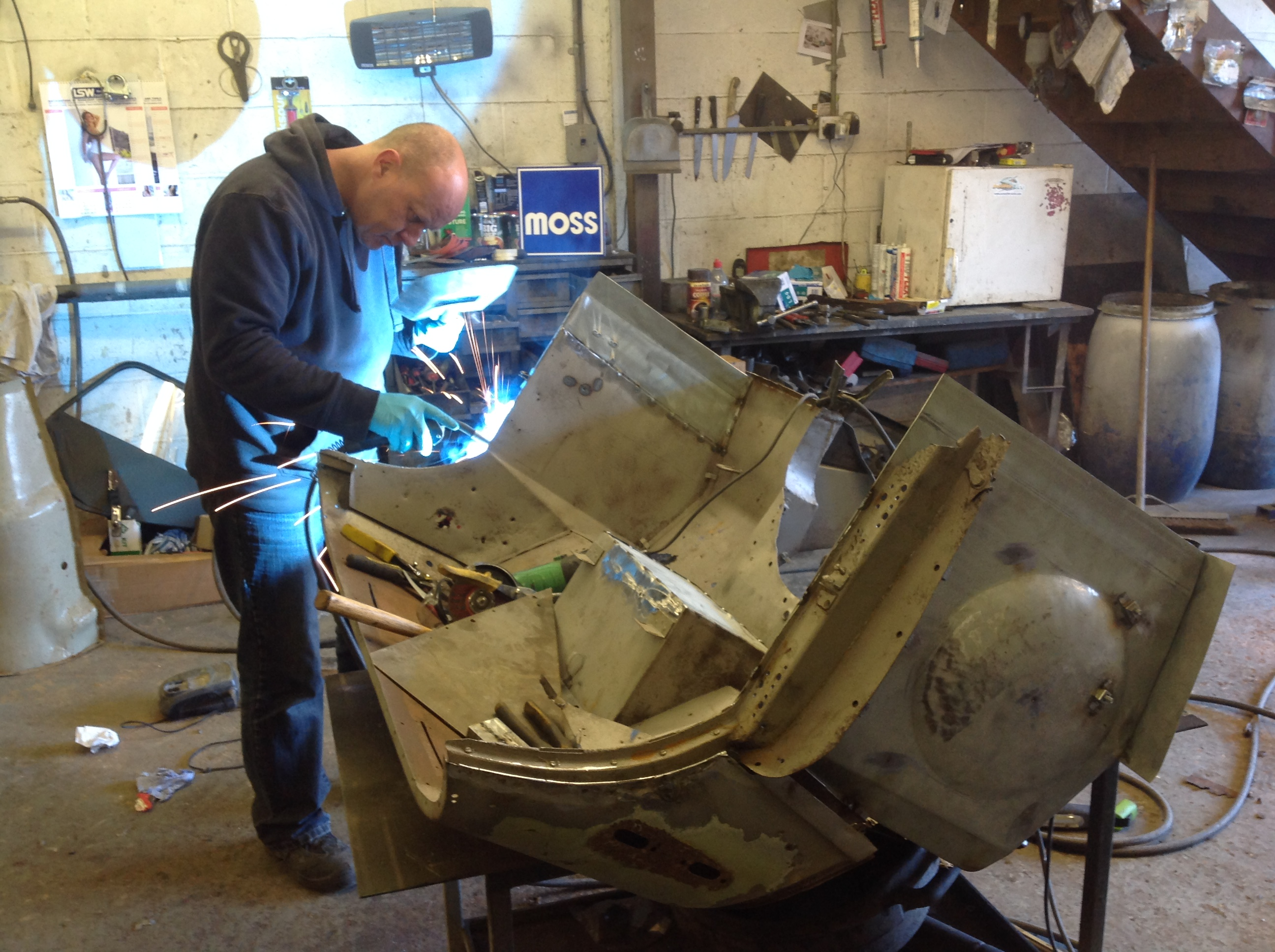 The TR2 under restoration