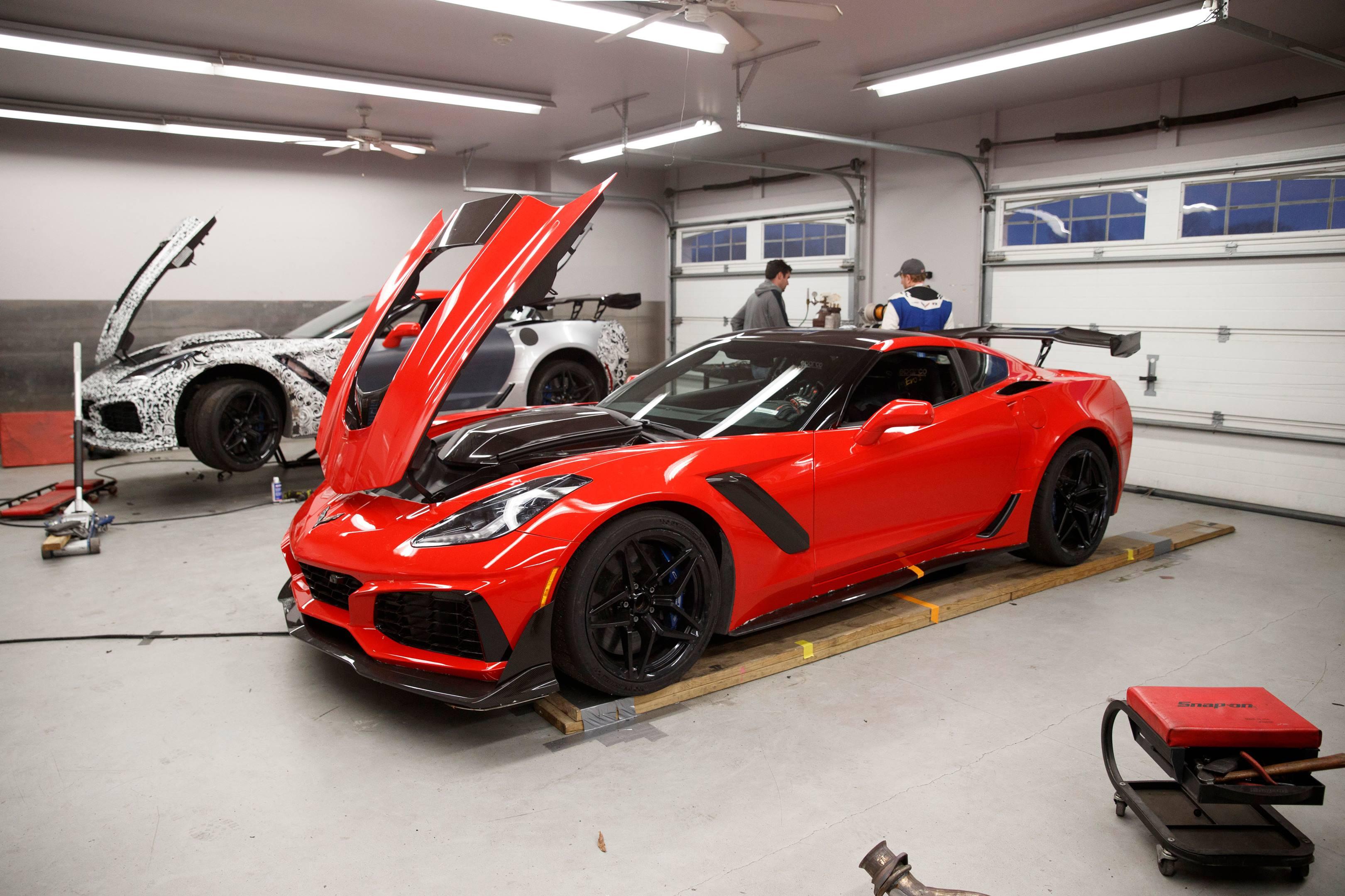 2019 Chevrolet Corvette ZR1 in the garage