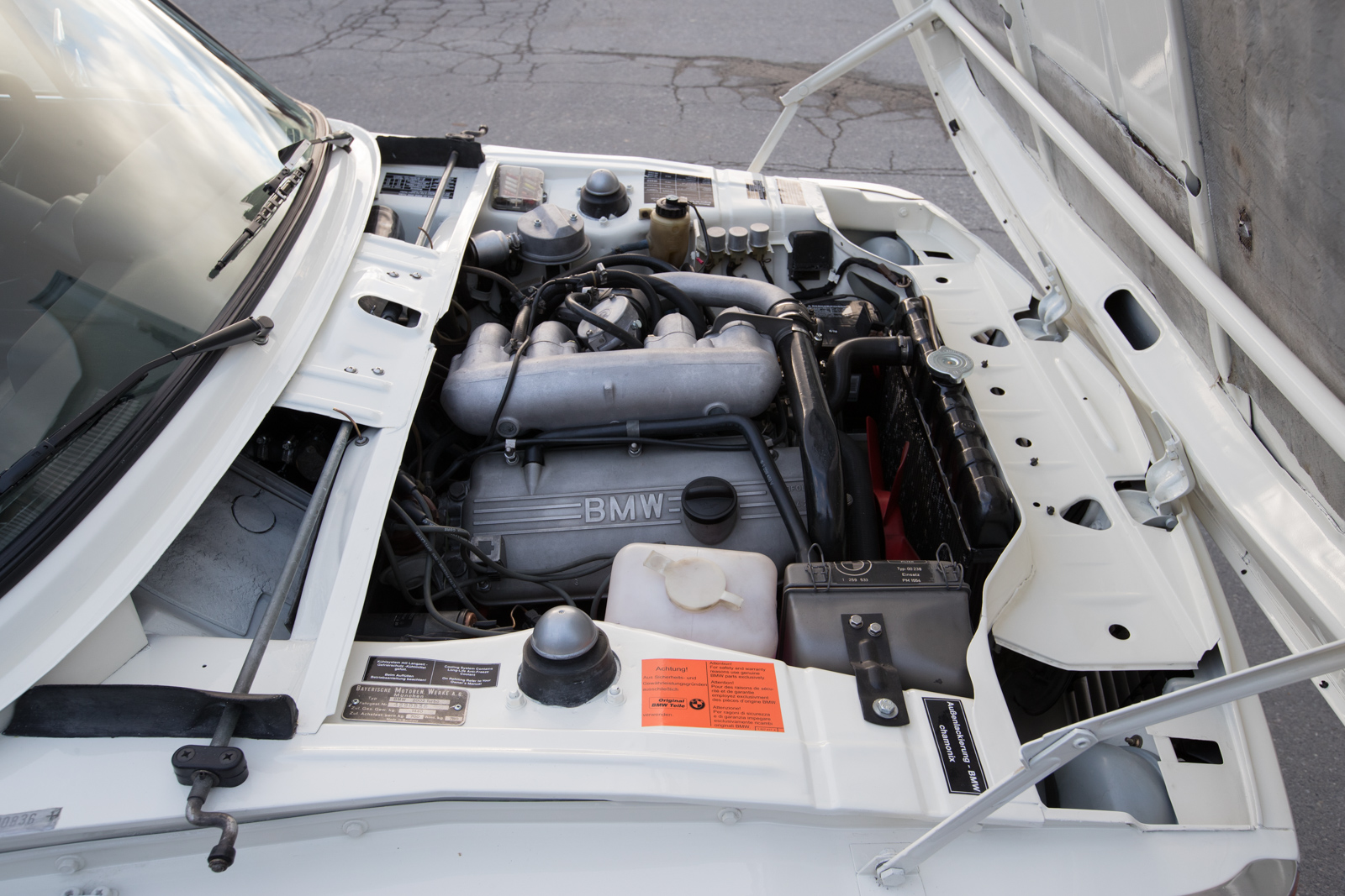 1974 BMW 2002 Turbo engine compartment