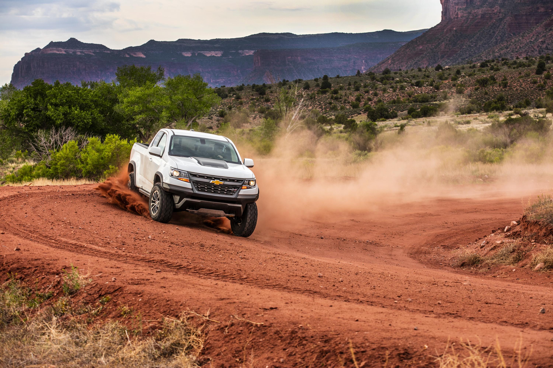 2017 Chevrolet Colorado ZR2 in the desert