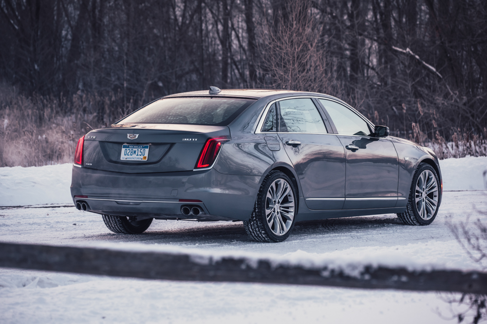 2018 Cadillac CT6 Platinum rear 3/4
