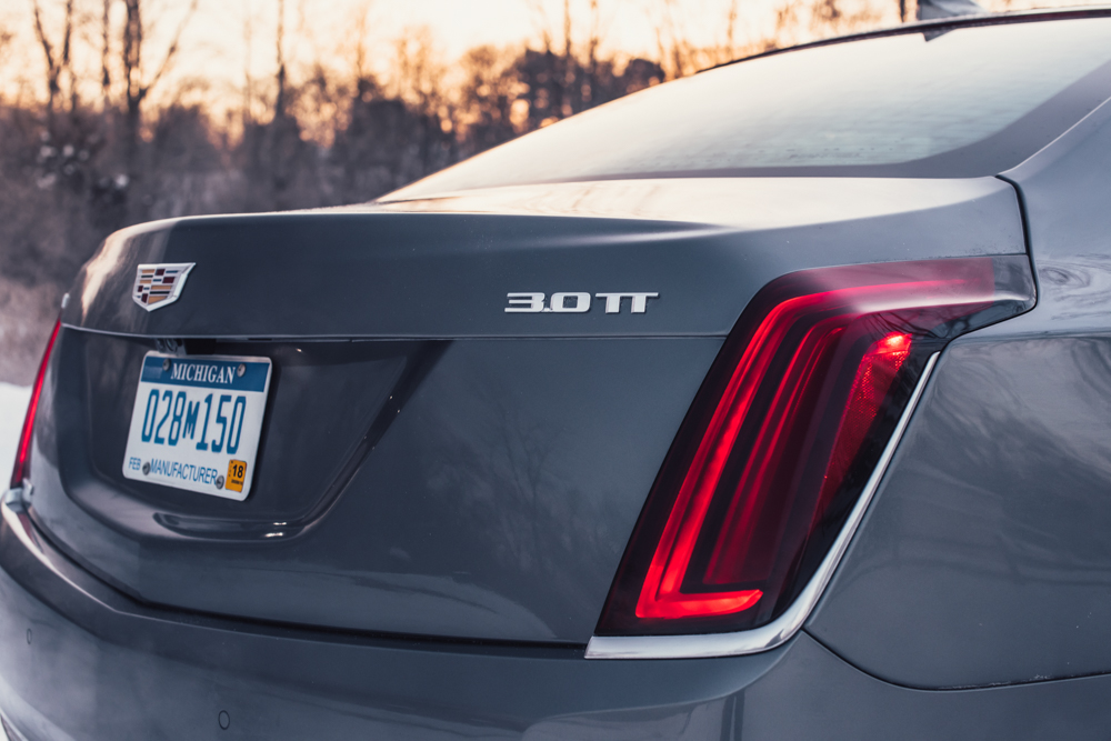 2018 Cadillac CT6 Platinum tail light detail