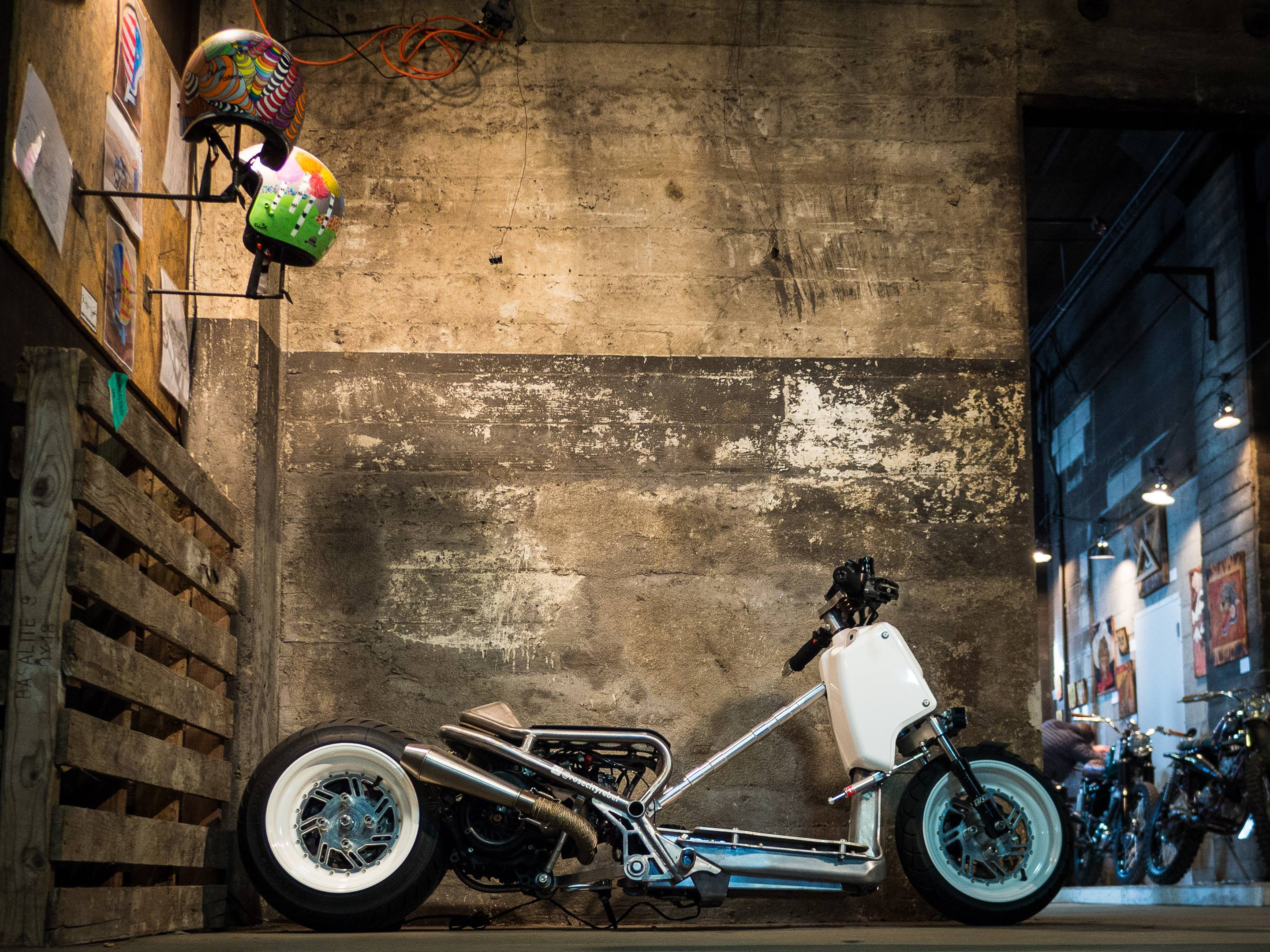 Motorcycles weren't the only customs on display at 1Moto. This 2008 Honda Ruckus rocked a mean lowrider look