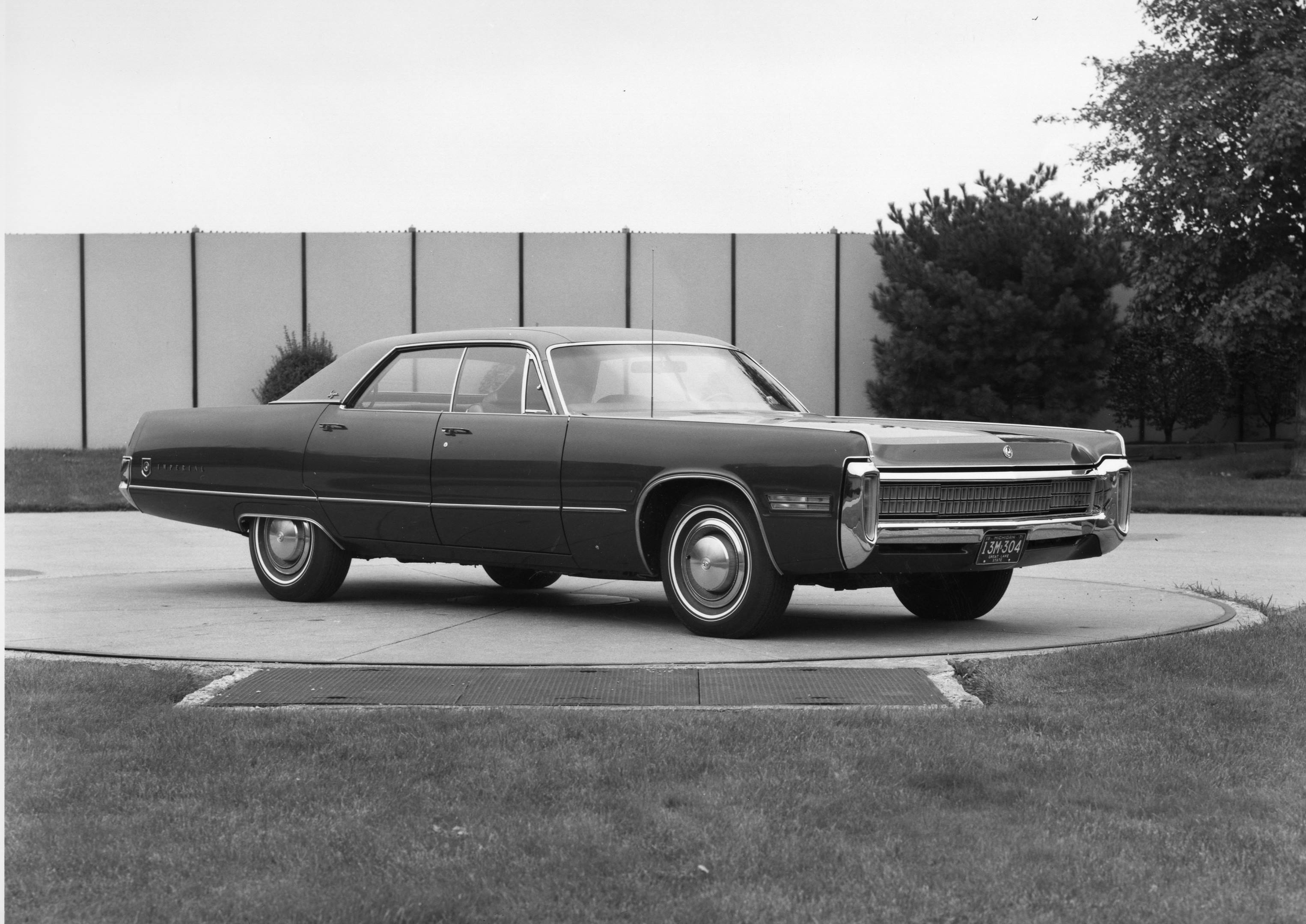 black and white photo of 1972 Chrysler Imperial
