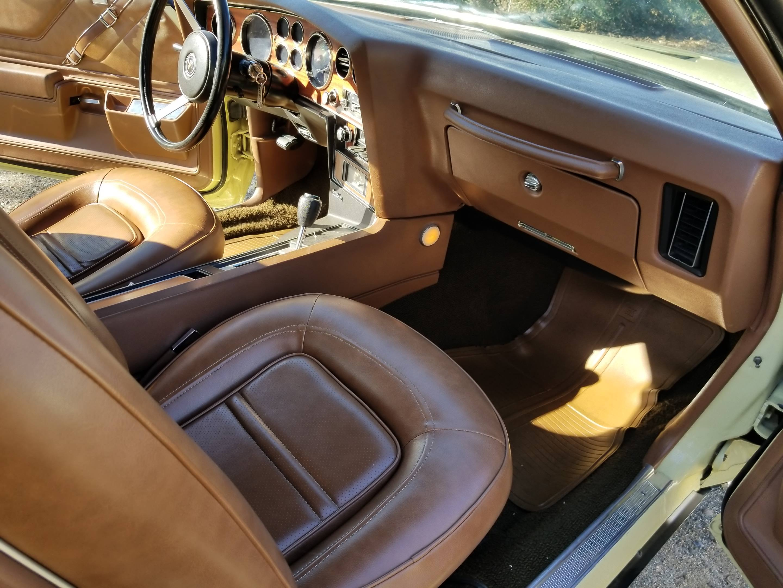 1973 Pontiac Grand Am passenger side interior
