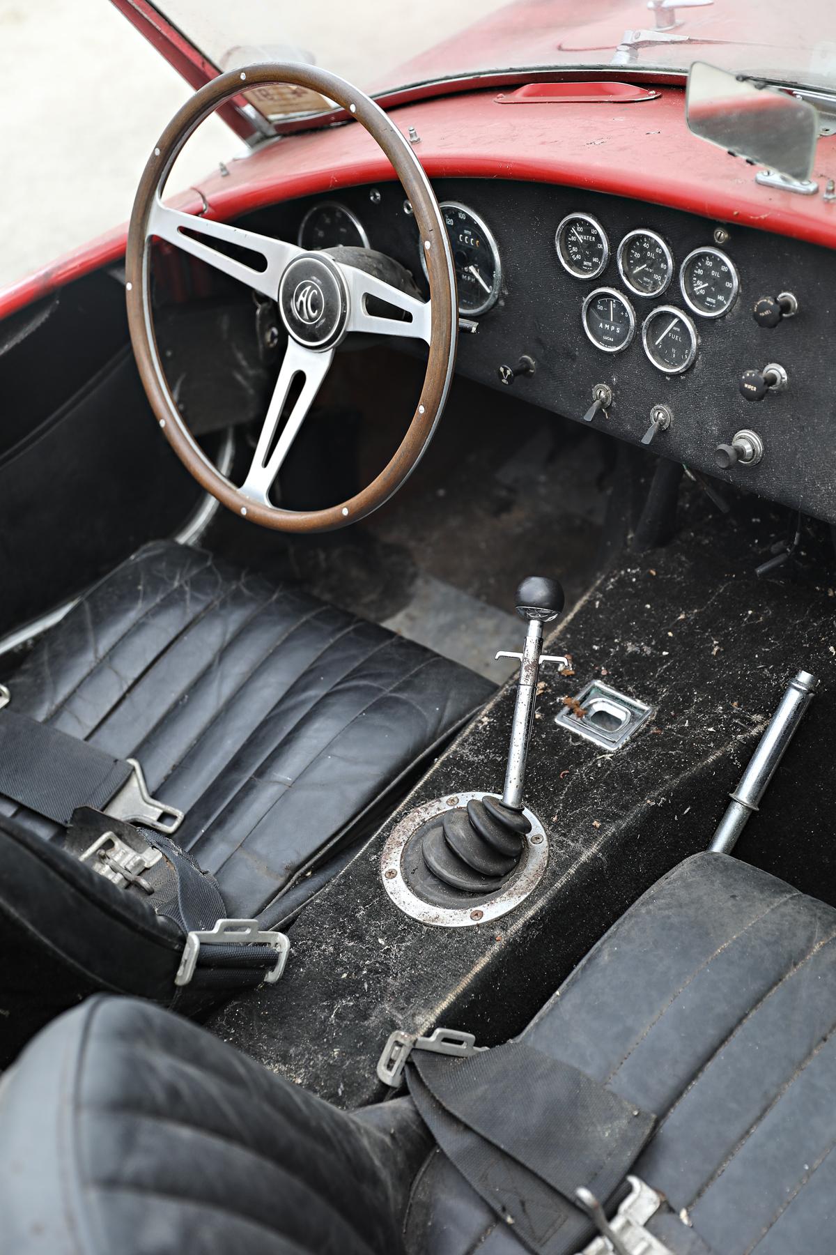 interior of a 1966 Shelby Cobra 427