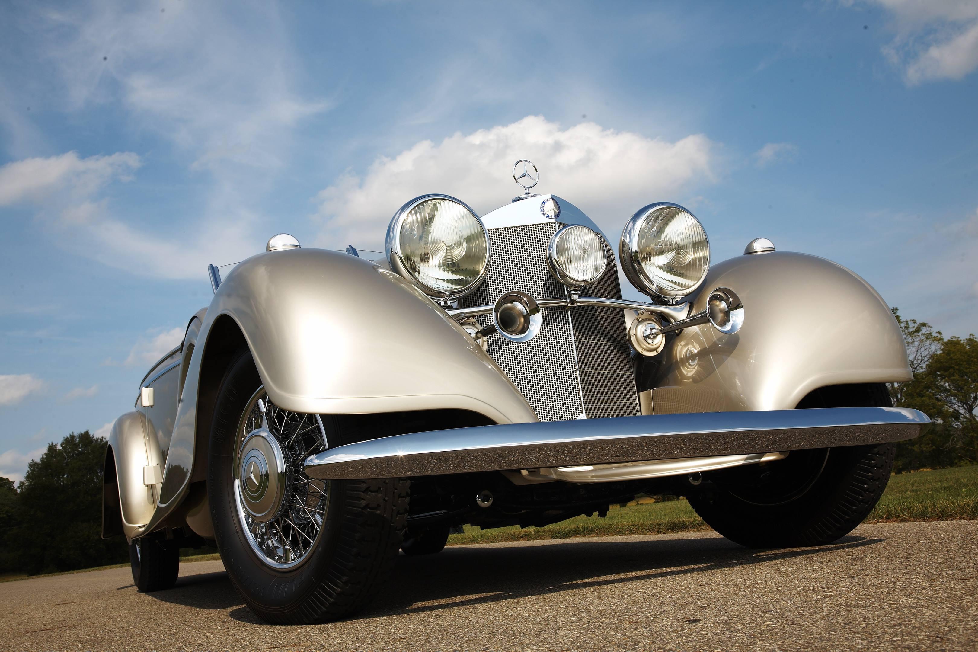 1938 Mercedes low left hand front corner